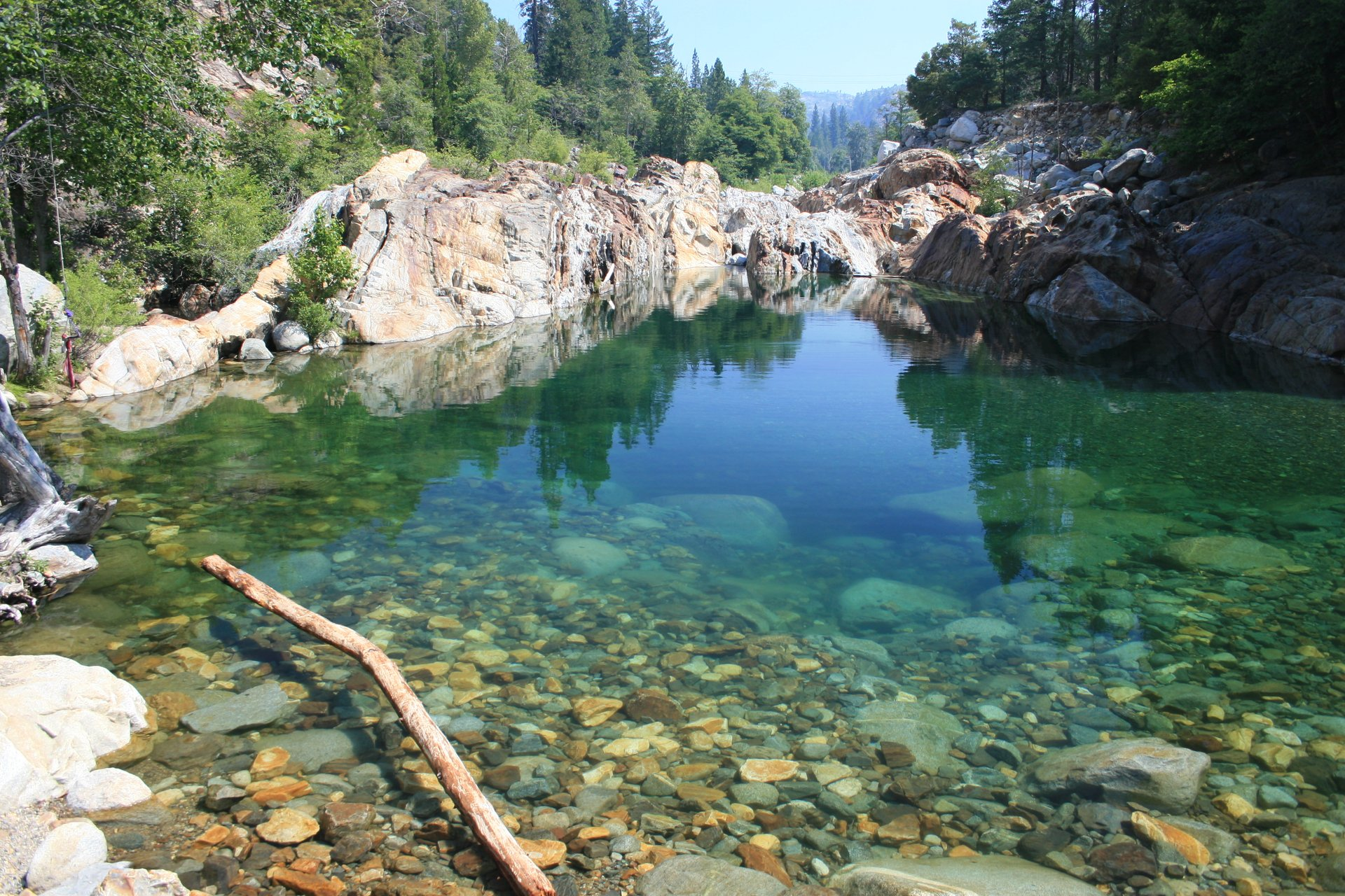 Emerald Pools Recreation Area on the Yuba River below Lake Spaulding, about 11 miles from the Loch Leven Trailhead 2020
