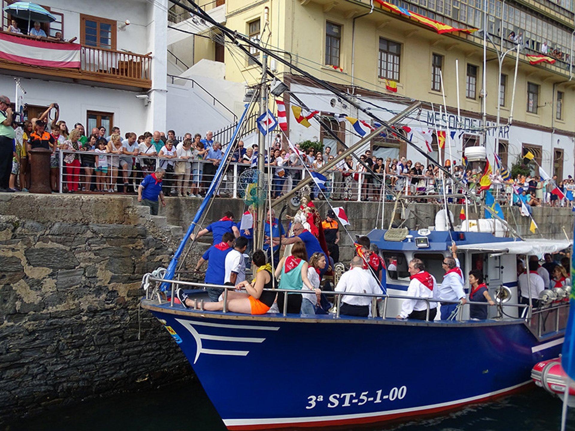 Luarca Maritime Procession of Virgen del Rosario in Spain 2019 - Best Time