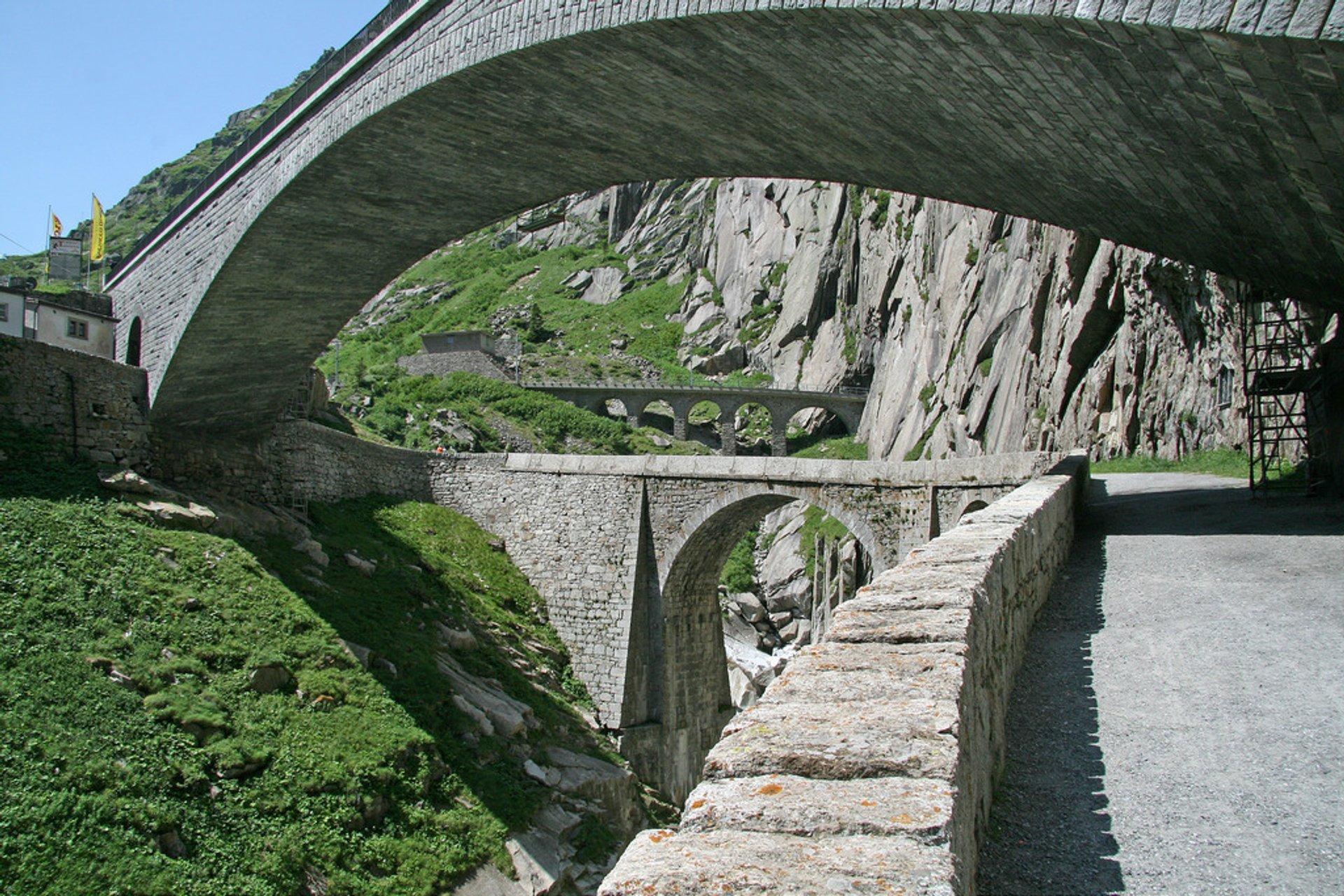 Teufelsbrücke or Devil's Bridge in Switzerland - Best Season 2020