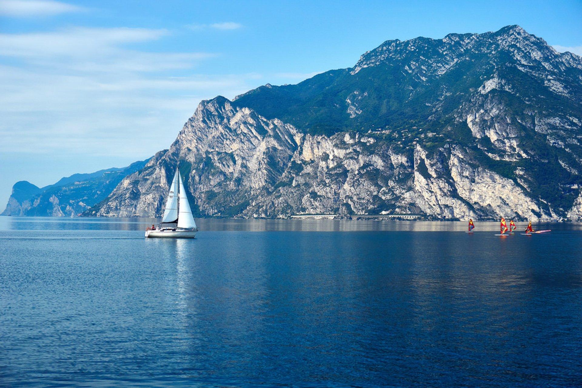 Boating in Lake Garda, Italy 2020