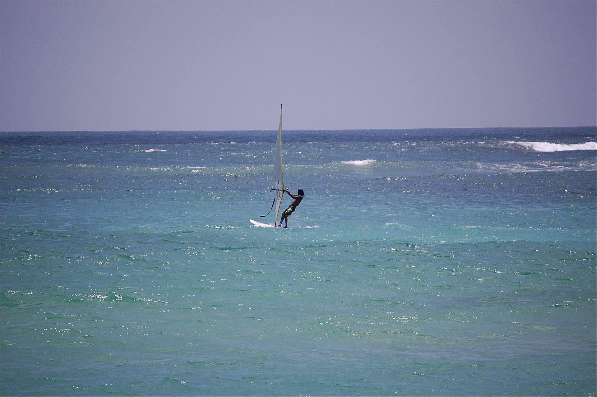 Windsurfing off the coast of southwestern Sri Lanka 2020