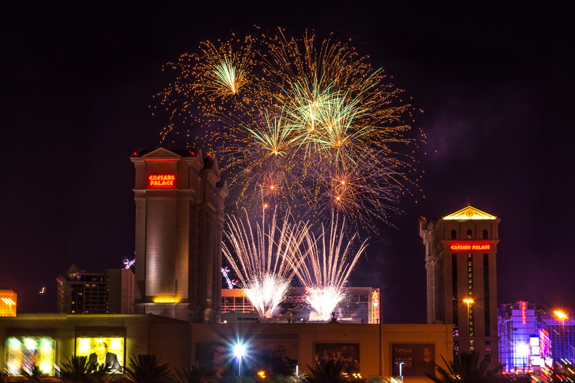 4th of July fireworks at Caesars Palace in Las Vegas 2019
