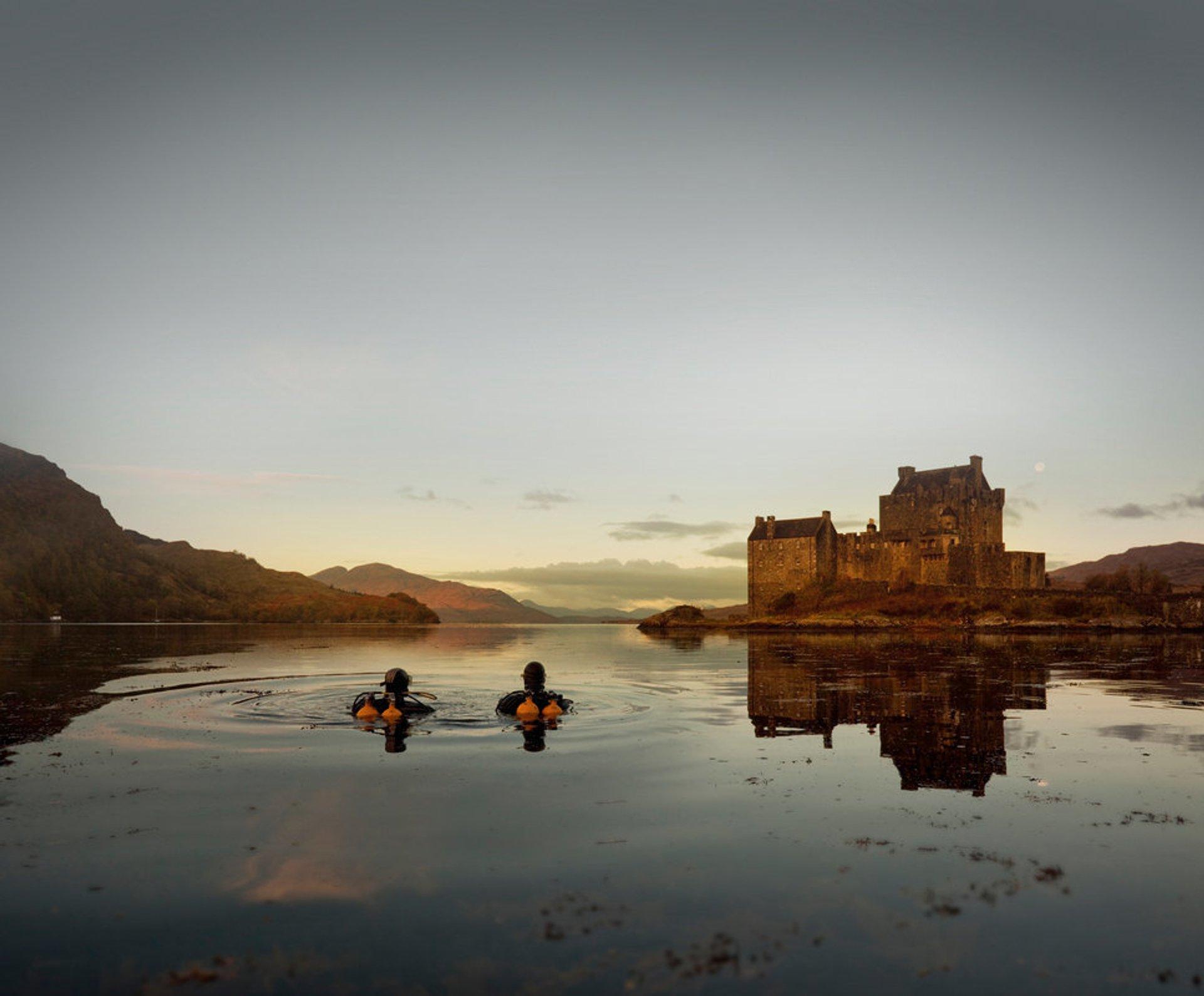 Scuba diving at Eilean Donan Castle 2020