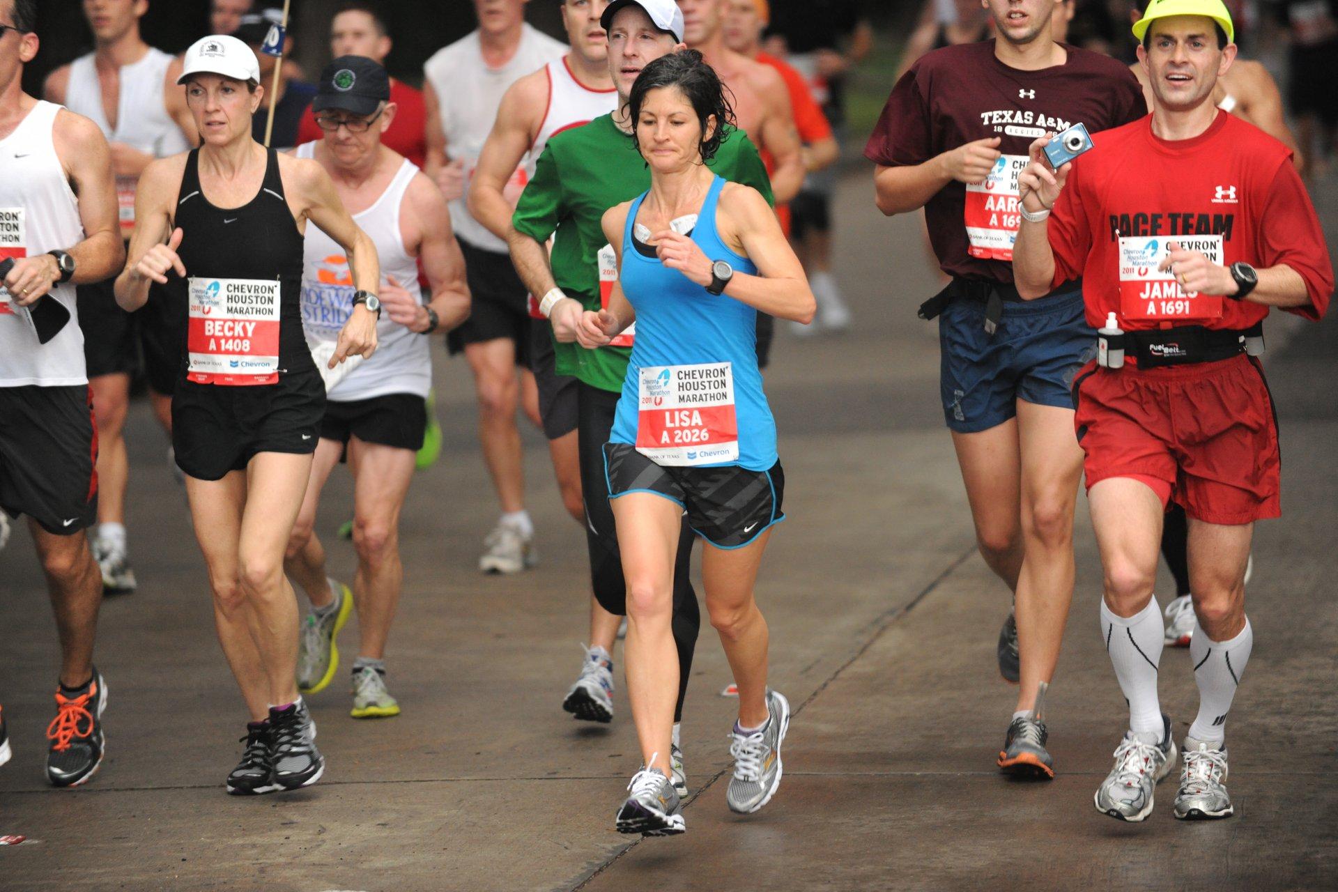 Best time for Chevron Houston Marathon in Texas 2020