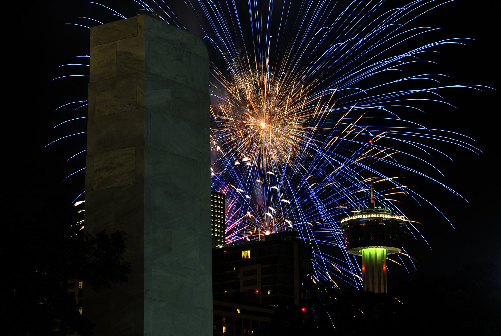 4th of July Fireworks over San Antonio, Texas 2020
