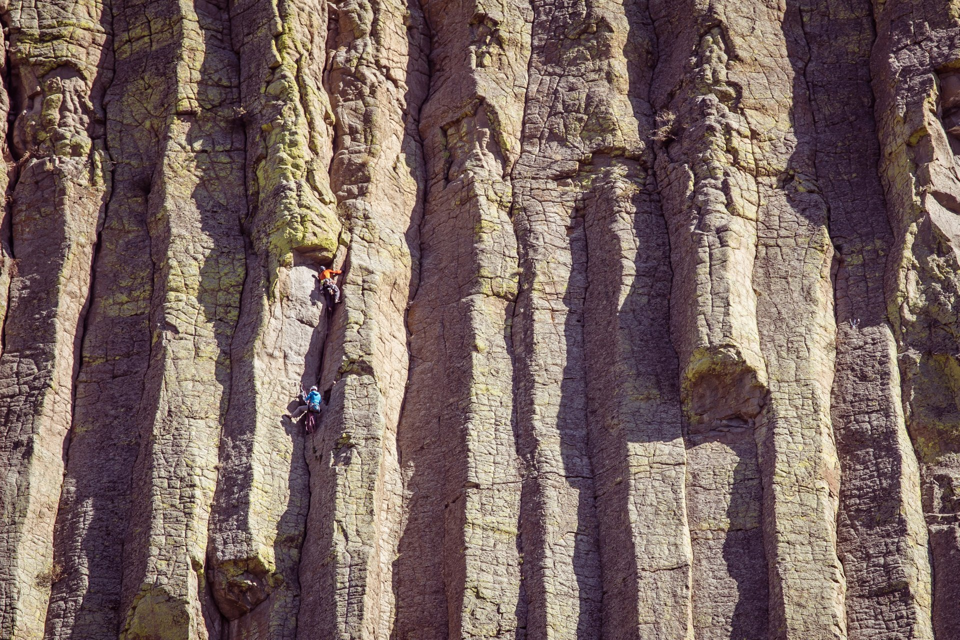 Rock Climbing at Devils Tower National Monument, Wyoming 2019