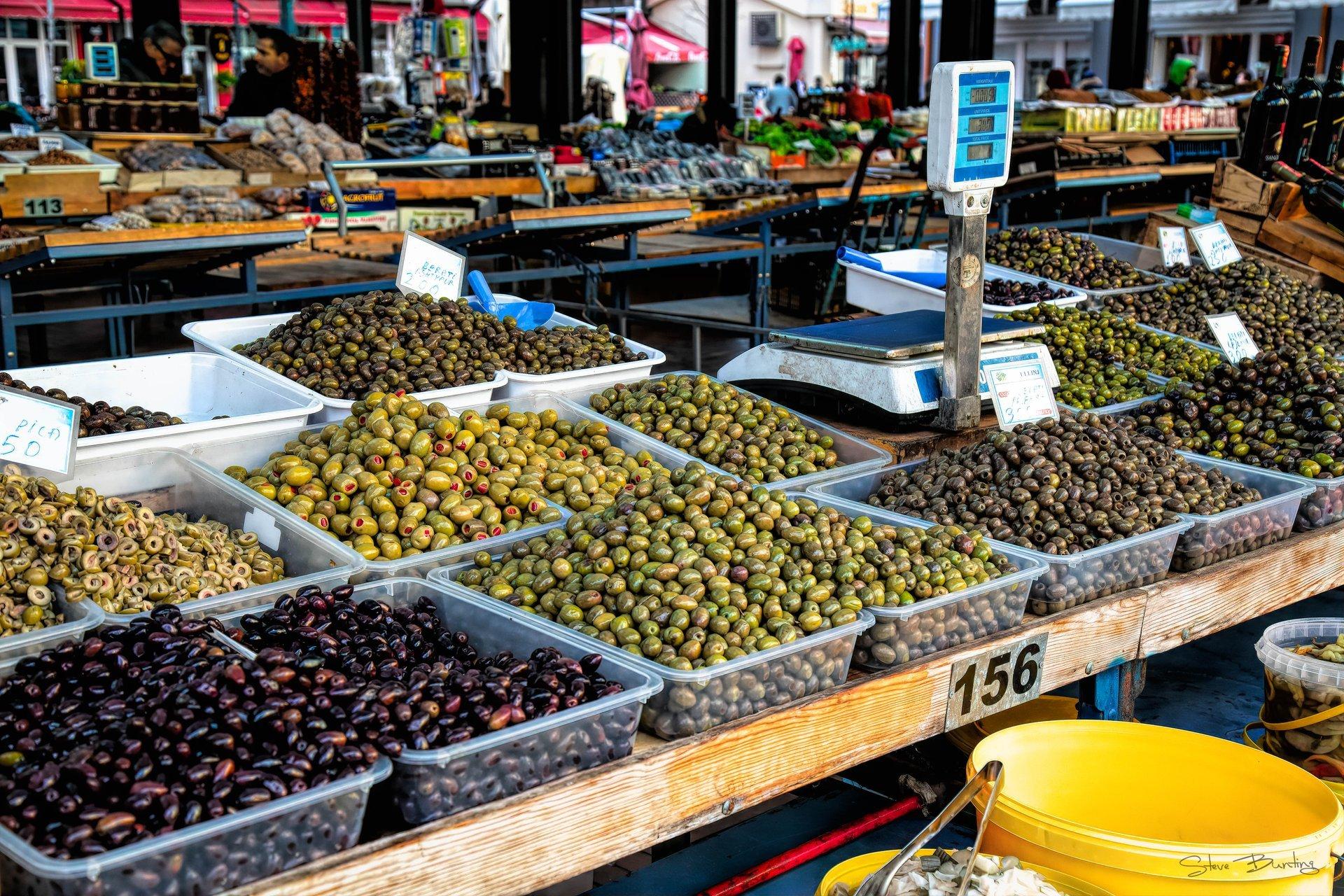 Olives in Tirana Market Place 2020