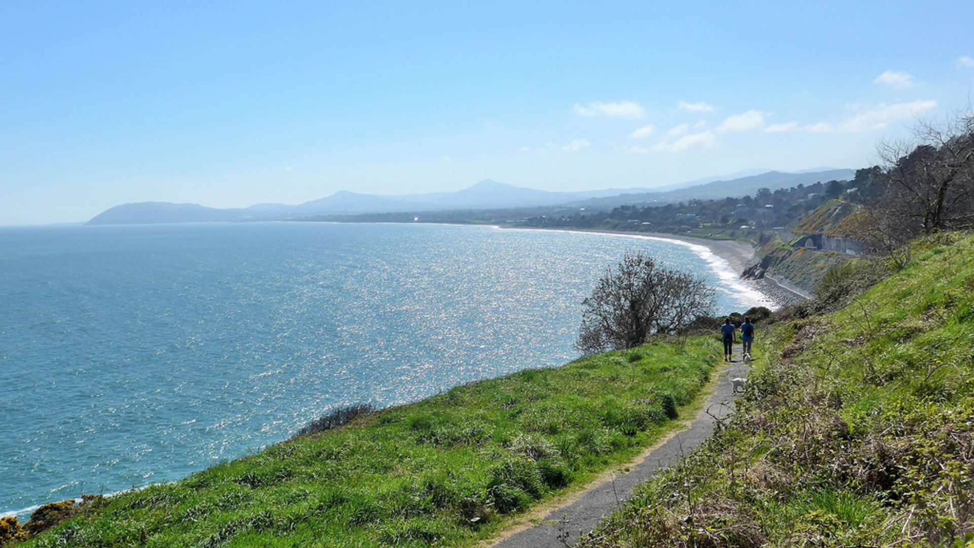 View of Killiney Bay, north of Bray Head 2019