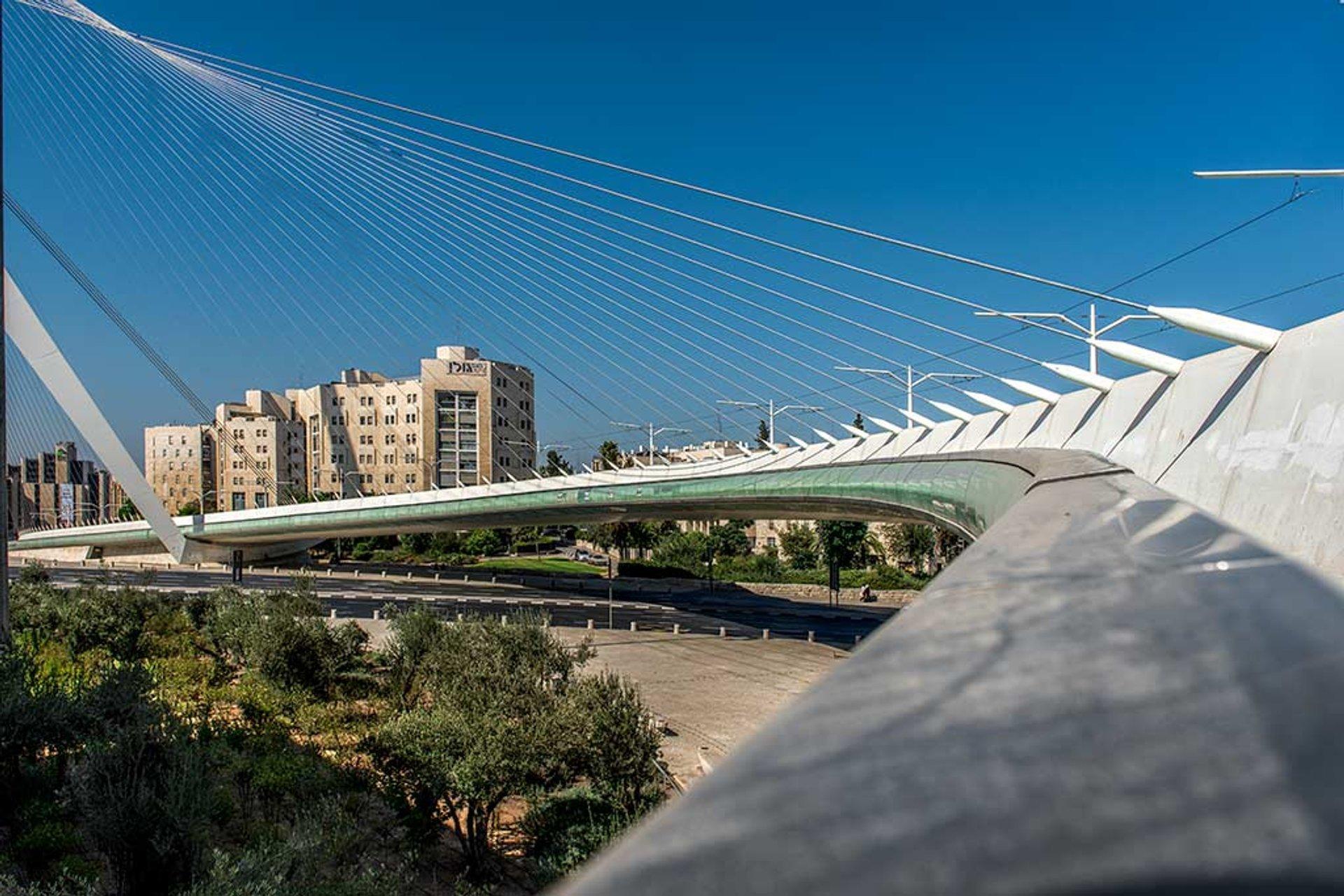 Best time for Bridge of Strings (Jerusalem Chords Bridge) in Jerusalem 2020
