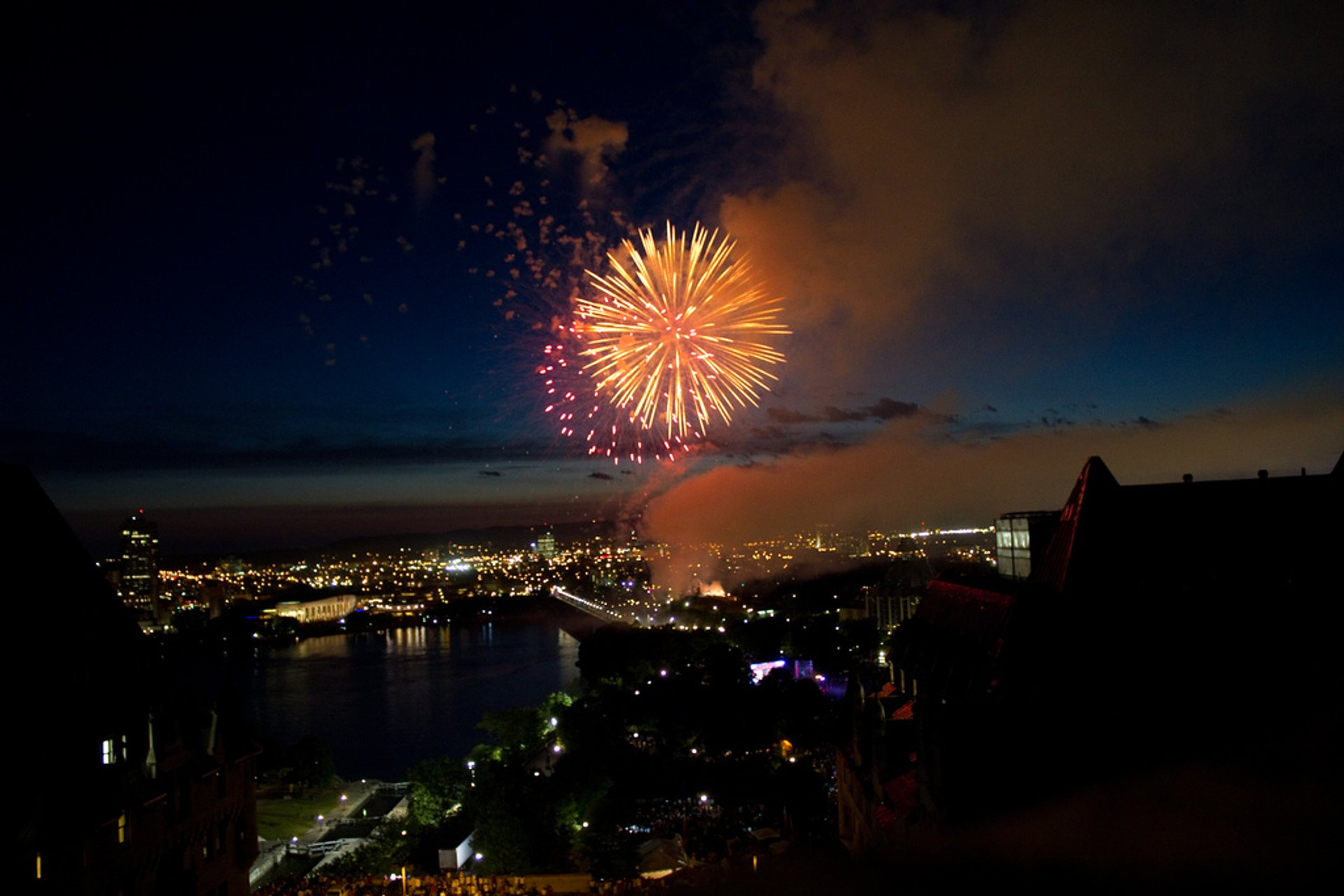Best time to see Canada Day Fireworks in Ottawa 2020