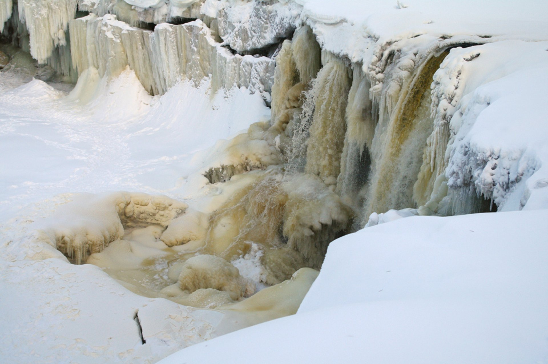 Best time for Frozen Waterfalls in Estonia 2020