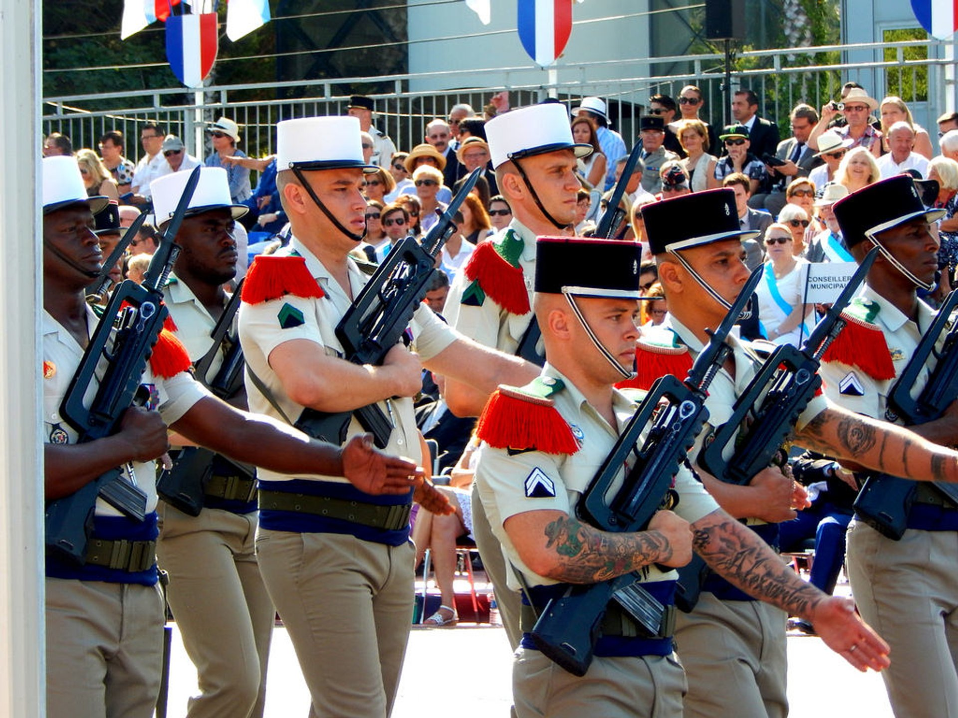 Bastille Day in Marseille, France 2020