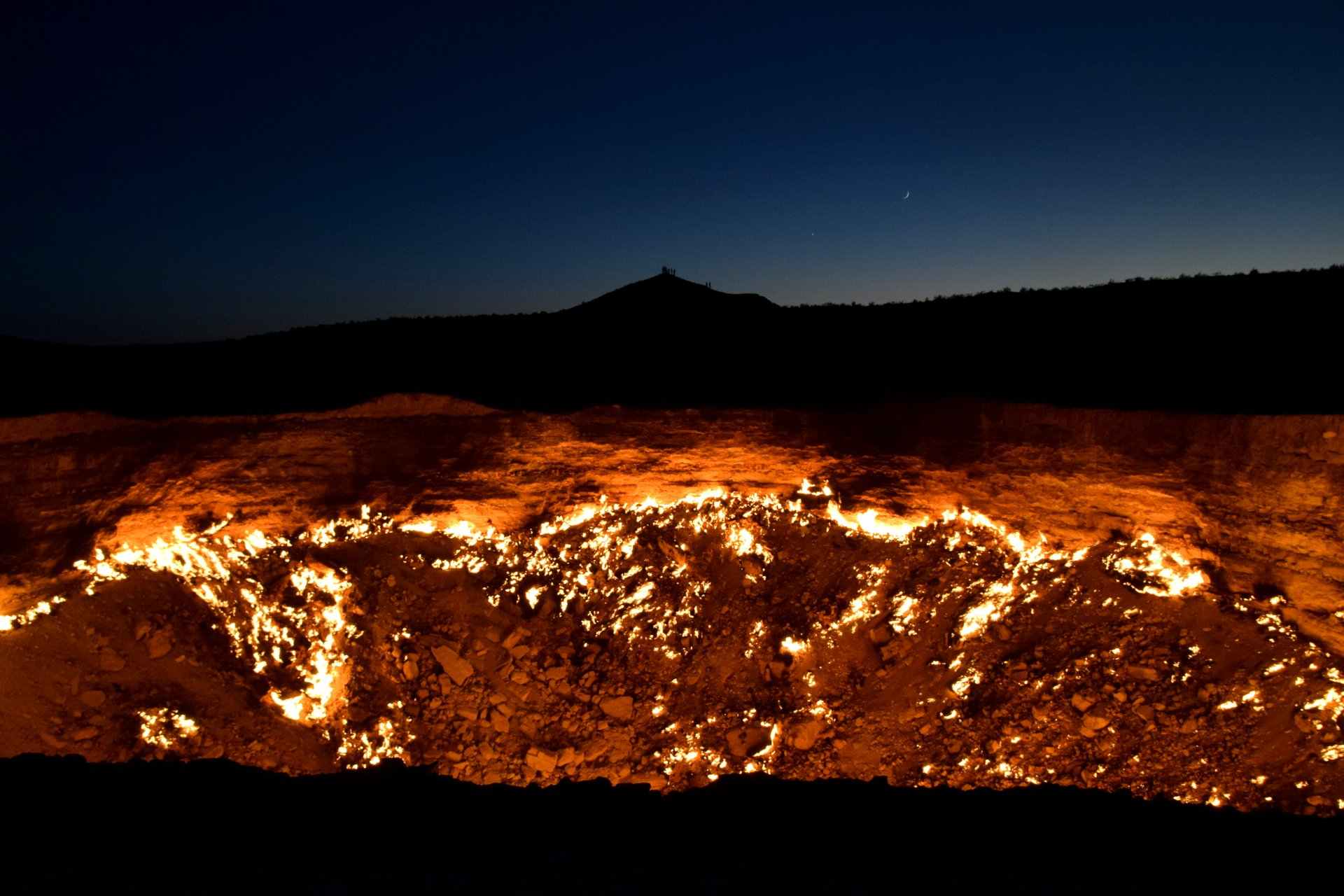 Best time for The Gates of Hell (Darvaza Gas Crater) in Turkmenistan 2020
