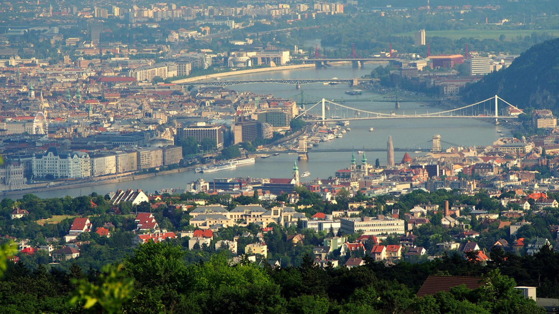 View of Budapest from Hármashatár-hegy 2019