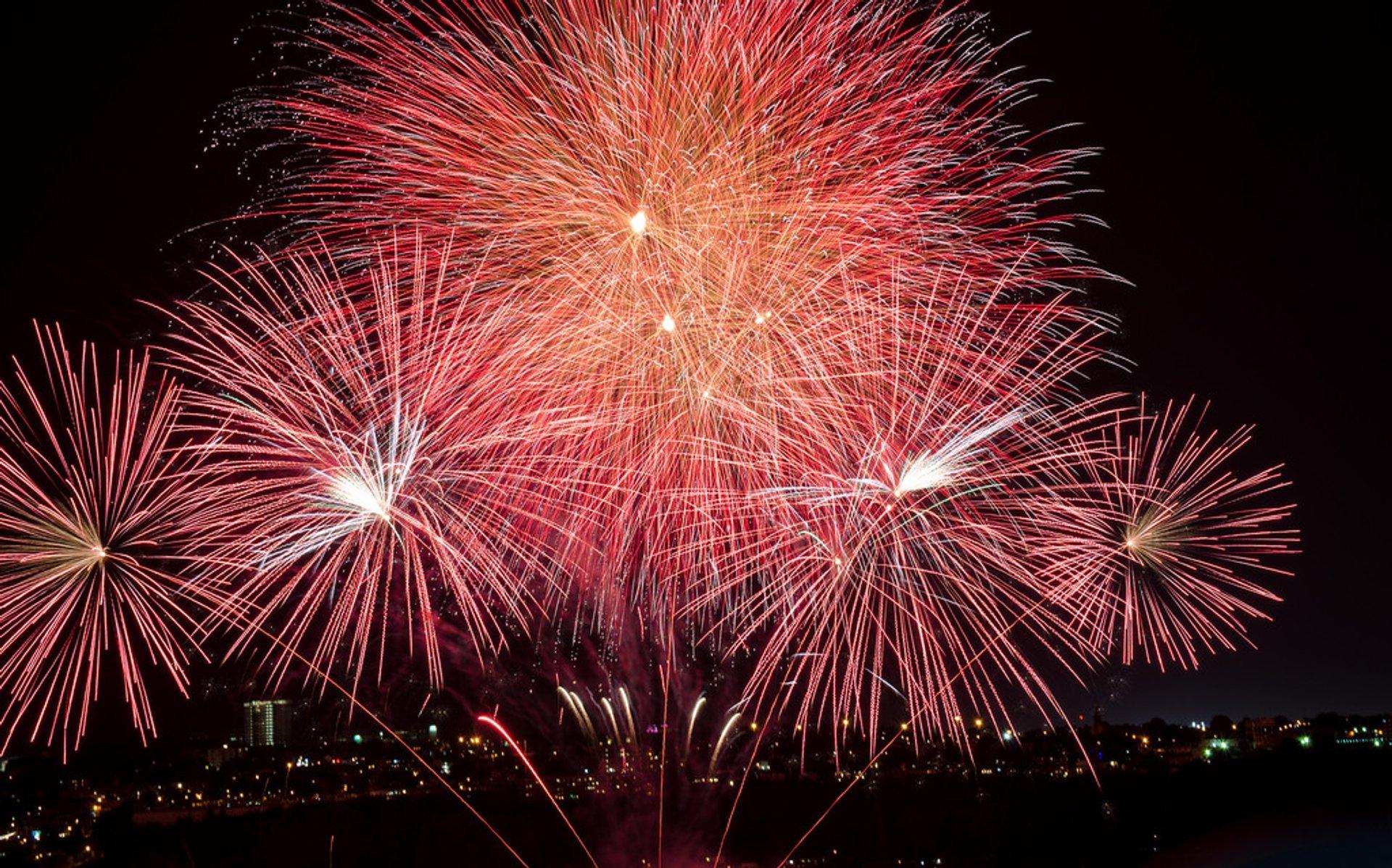 Best time for Les Grands Feux Loto-Québec (Fireworks Festival) in Quebec 2020