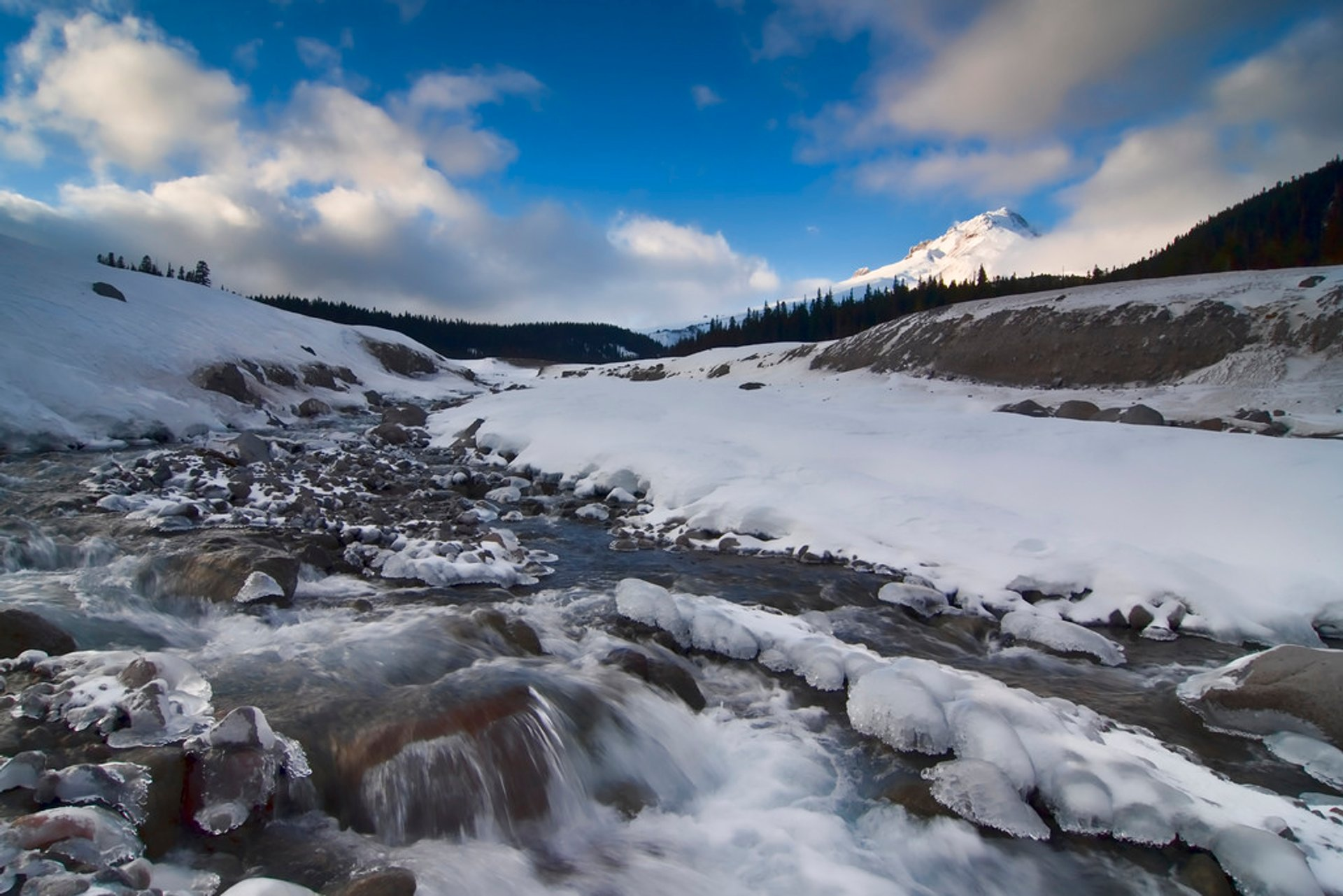 The Mighty White River with diminutive Mt. Hood in the background 2020