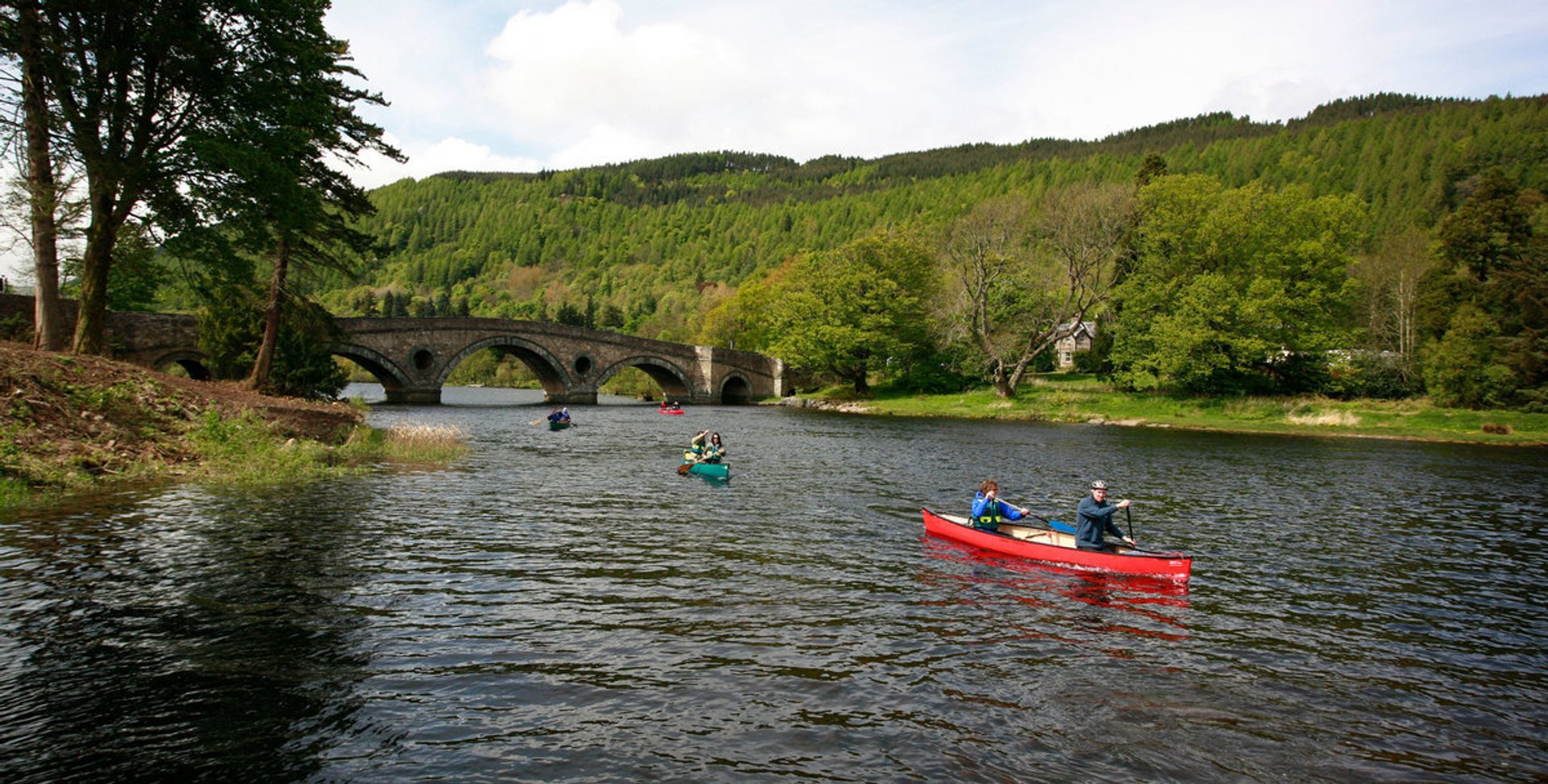 Canoeing from Loch Tay to River Tay