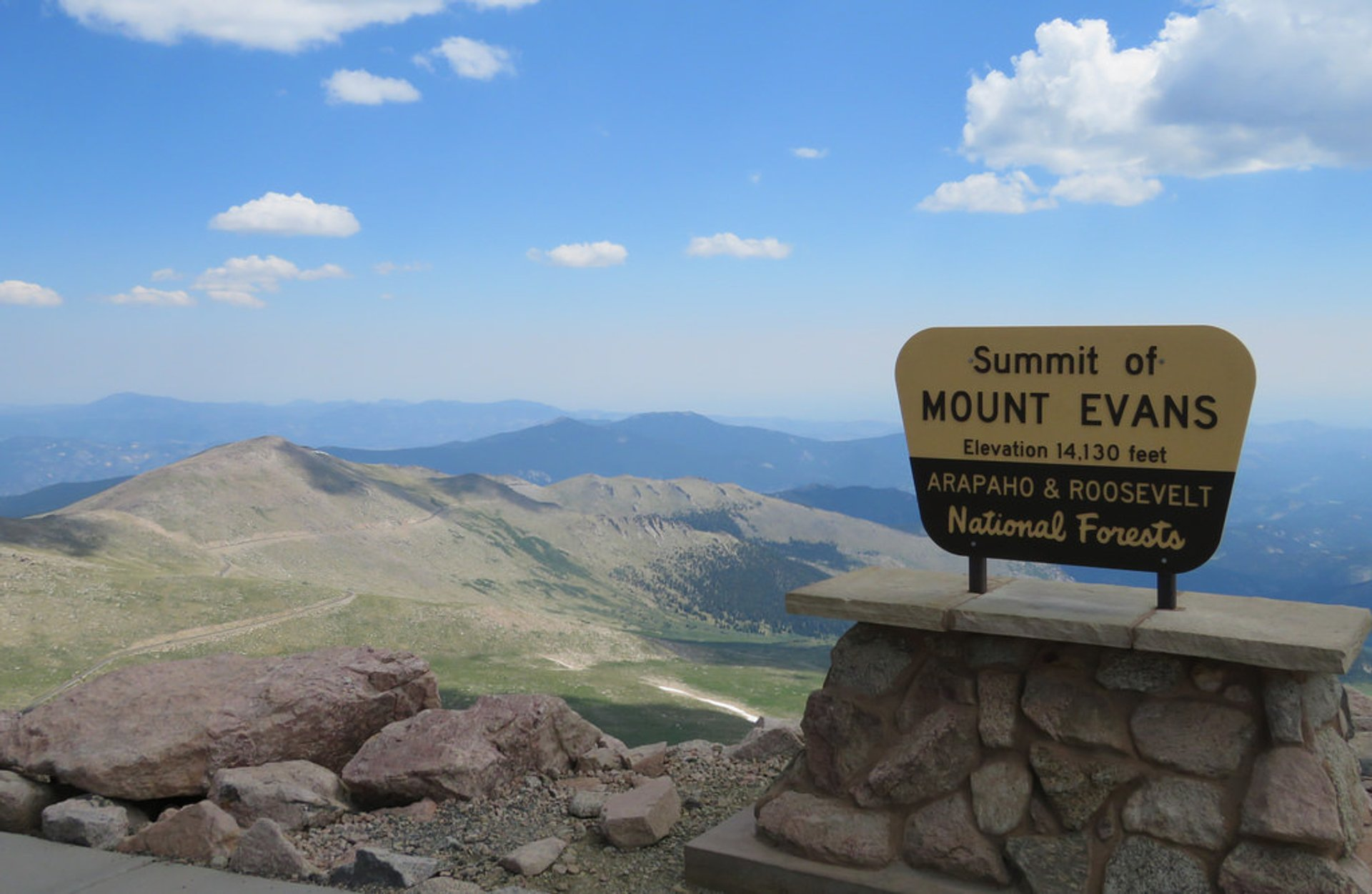 At the summit of Mount Evans 2019