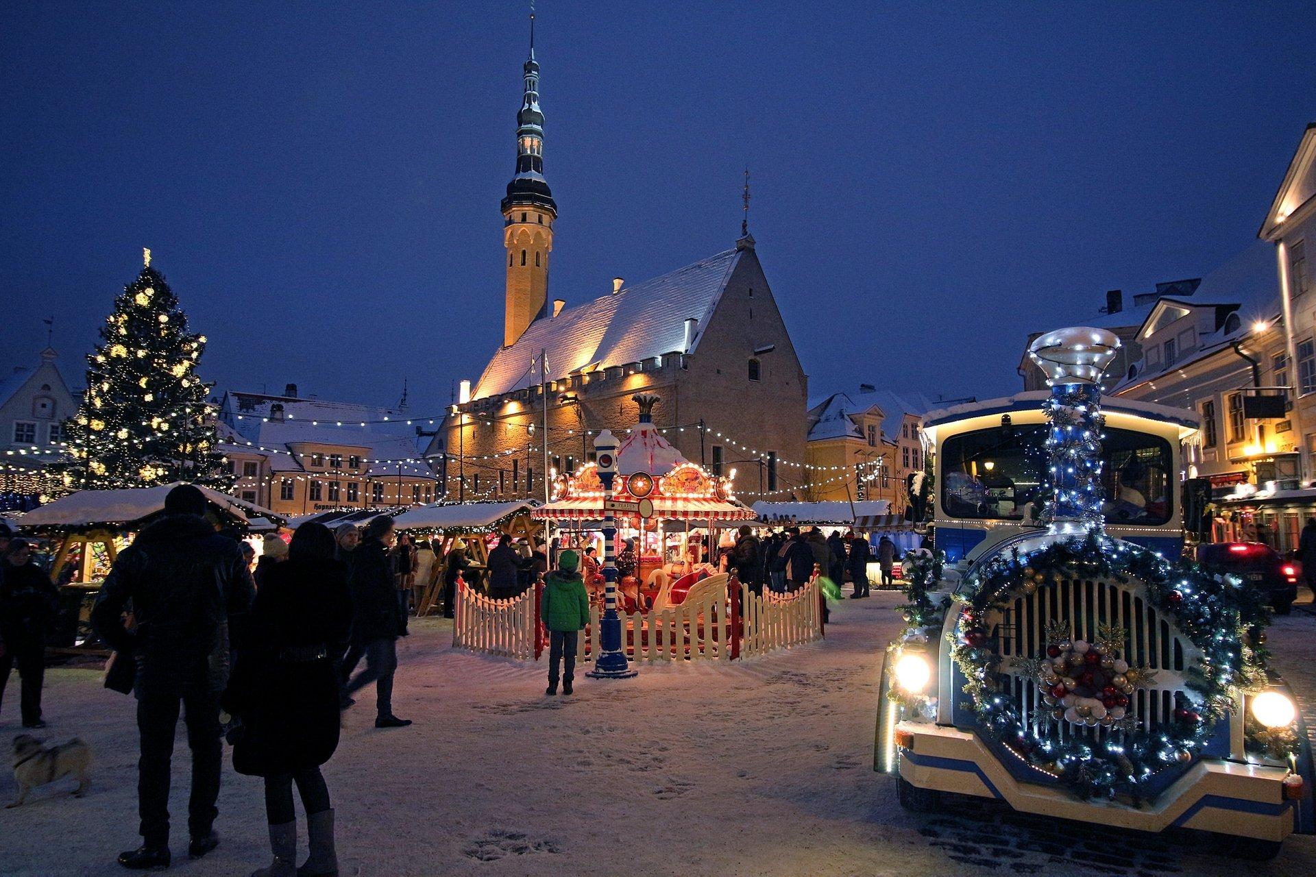 Best time for Christmas Market in Tallinn in Estonia 2019