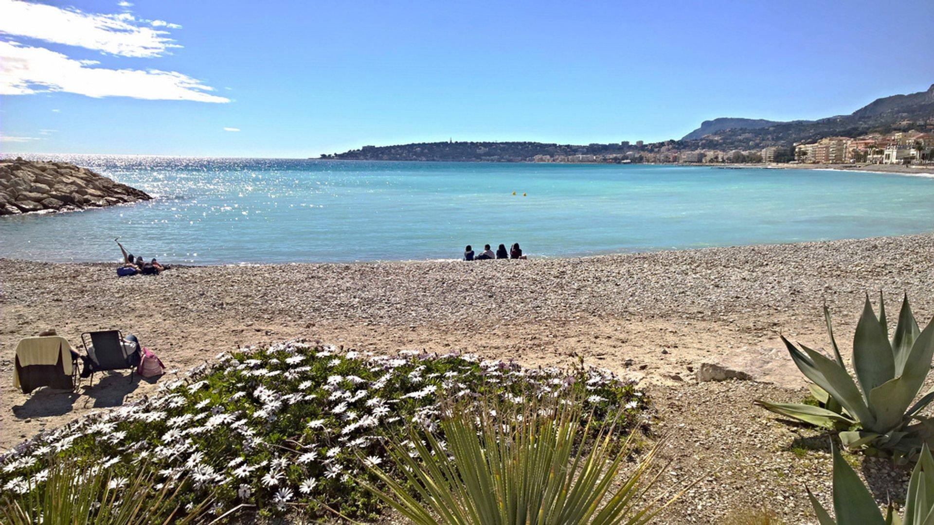 Beach in Menton 2020