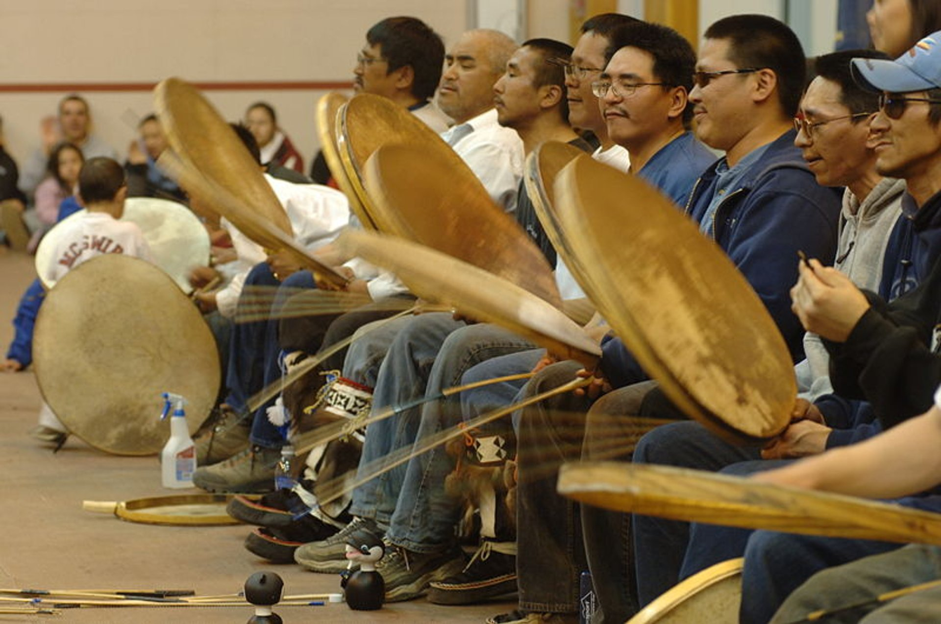 Inupiat drummers at Eskimo Dance 2020