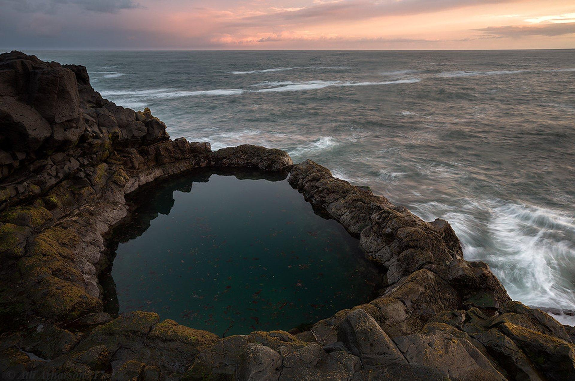 Brimketill, coastal pothole, Southwest Iceland. 2020