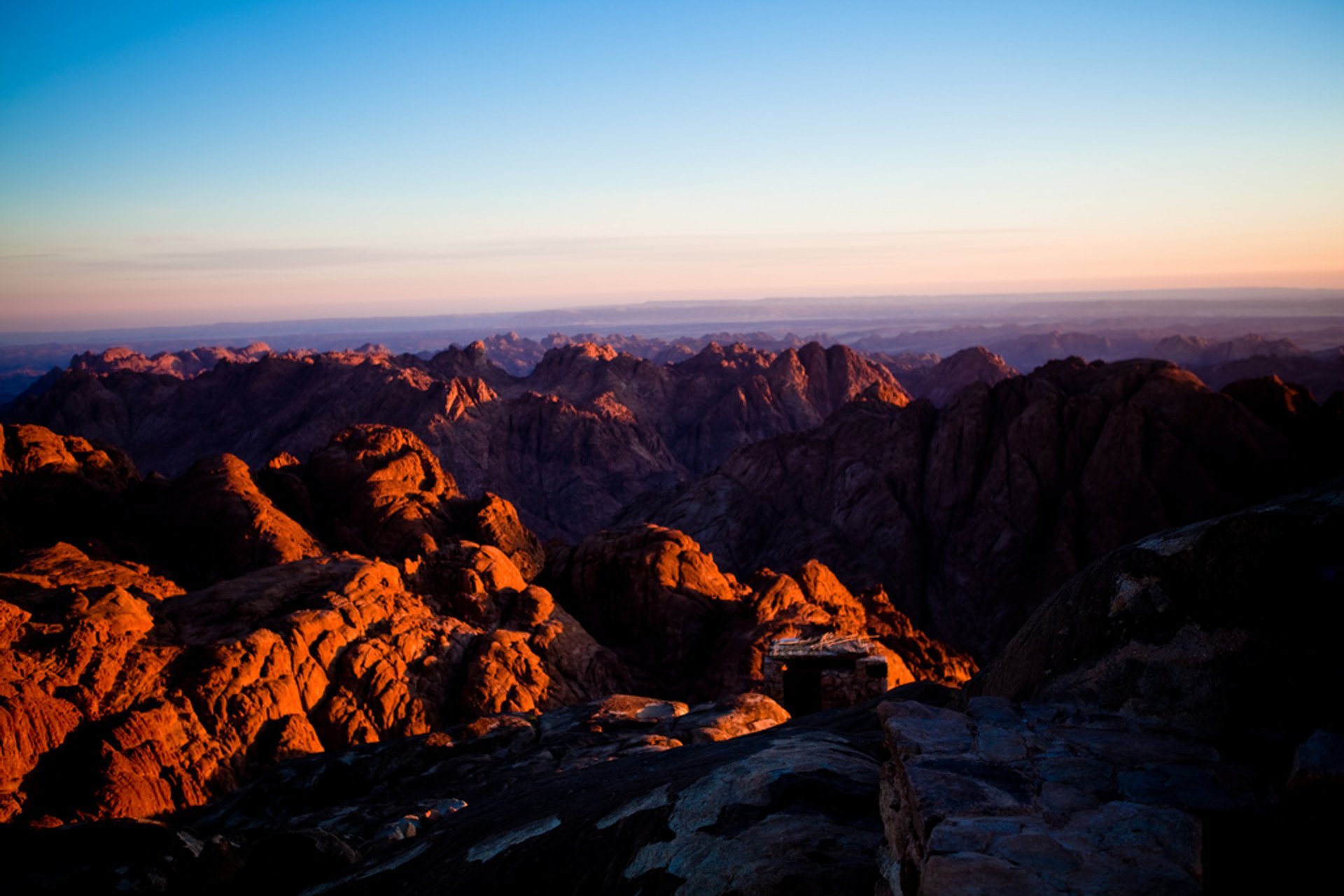 Sunrise over Mount Sinai 2020
