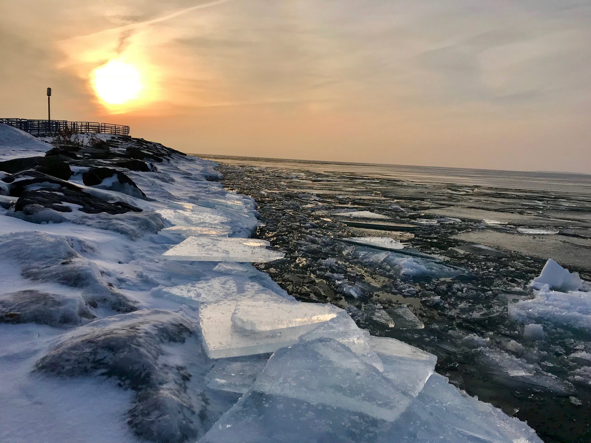 Ice on Lake Huron, Thunder Bay National Marine Sanctuary 2020