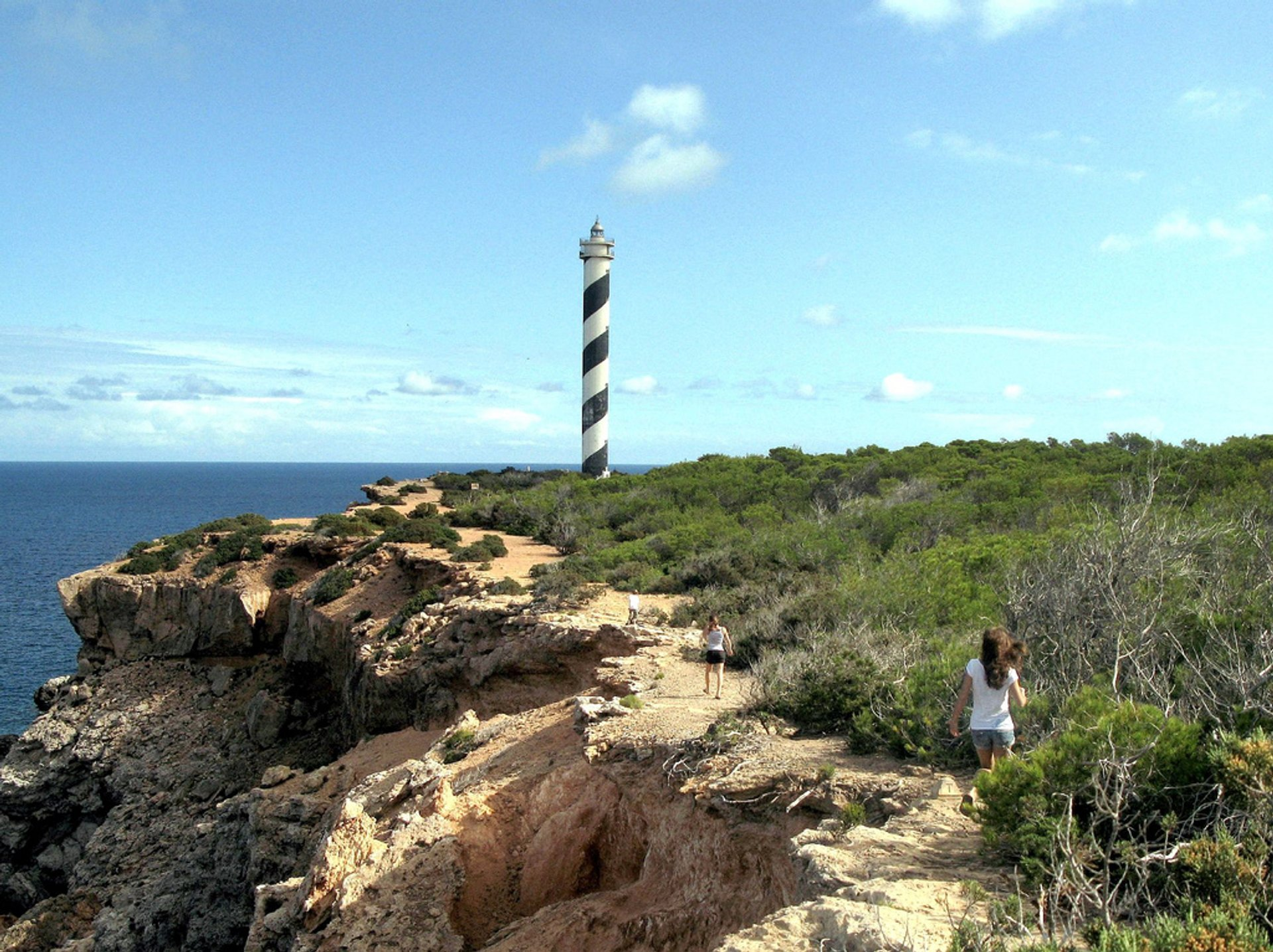 Hiking to the Punta Moscarter Lighthouse, near Portinatx on the northern coast of Ibiza 2020