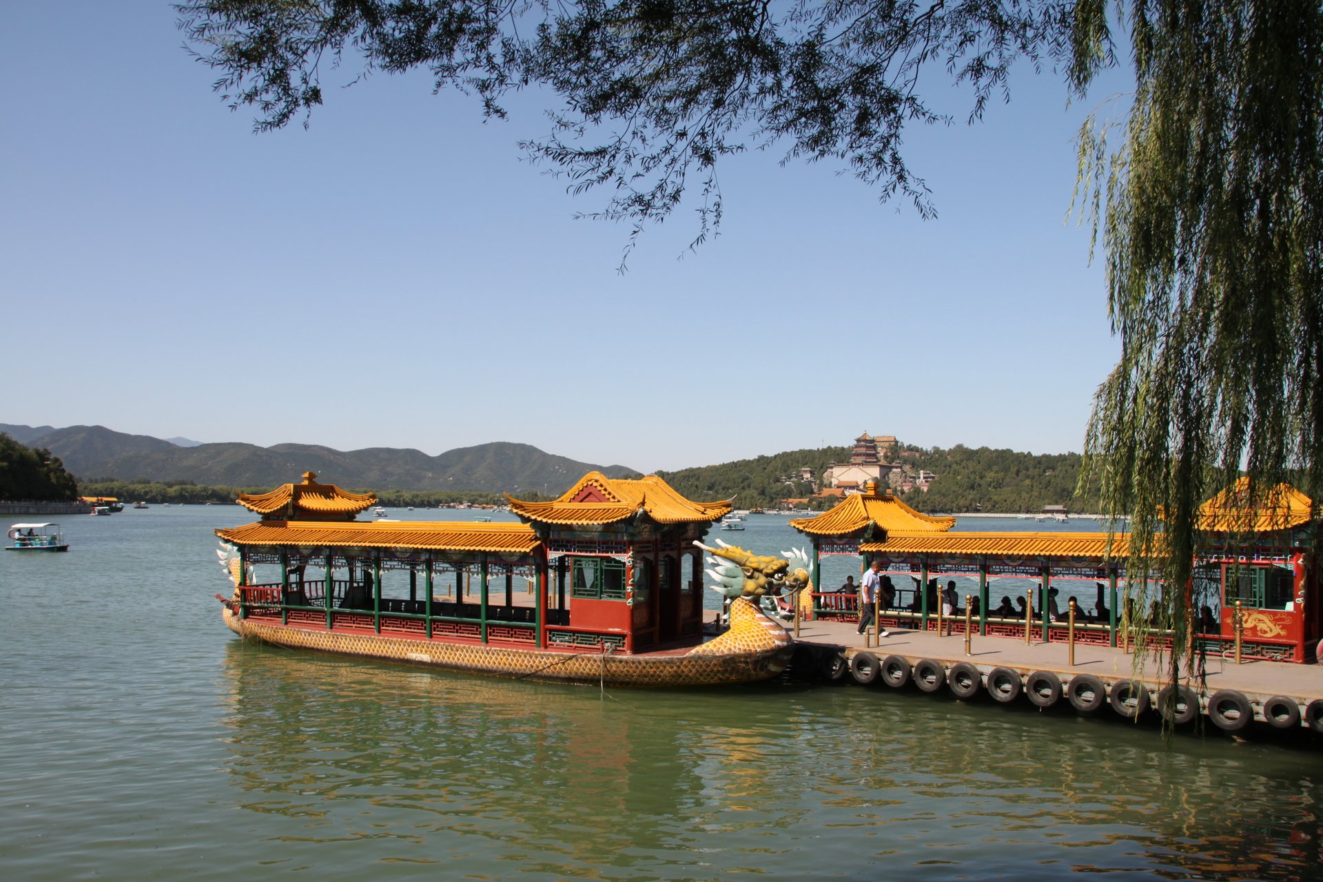 Summer Palace traditional boats 2020