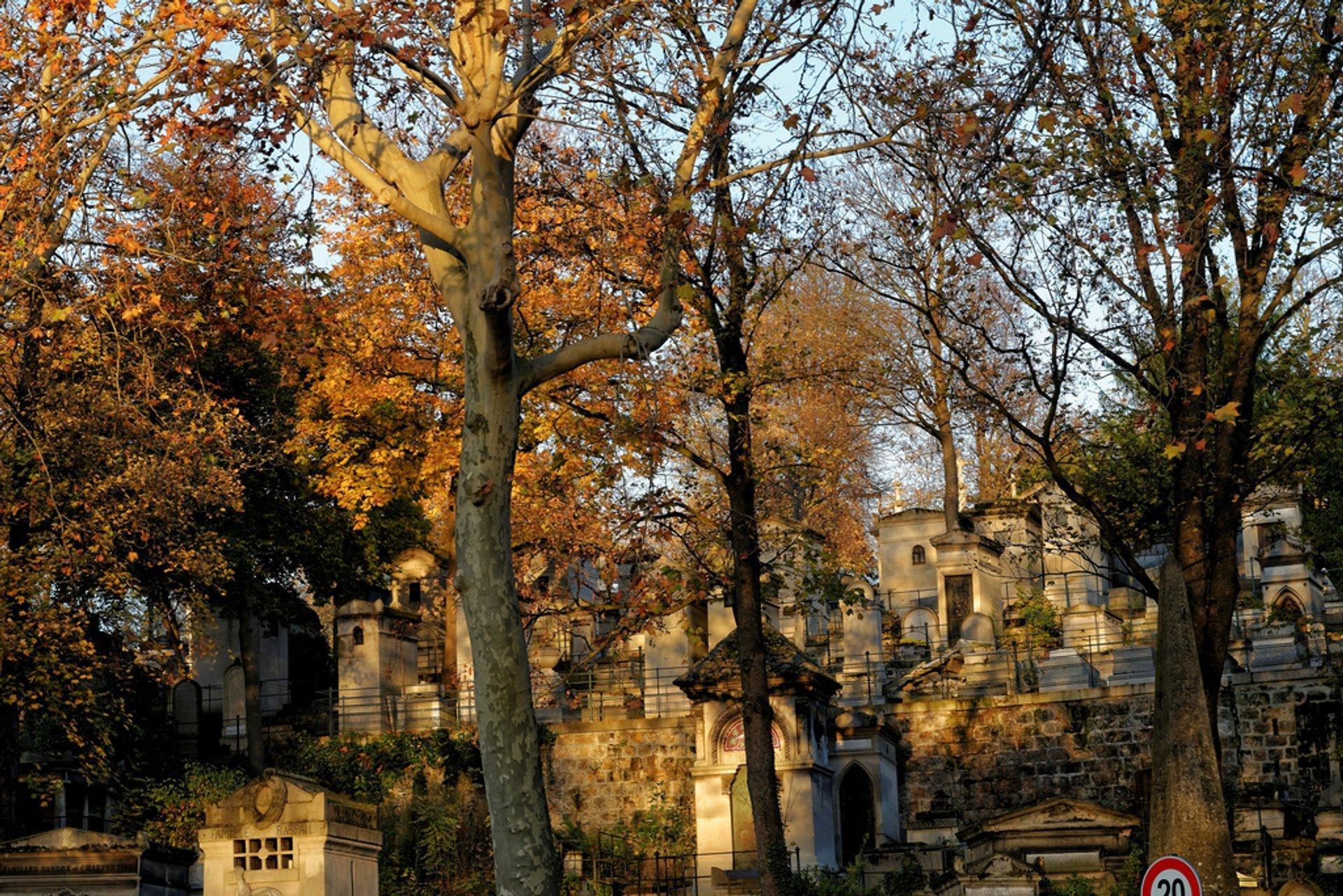 Autumnal Père Lachaise Cemetery in Paris - Best Season 2019