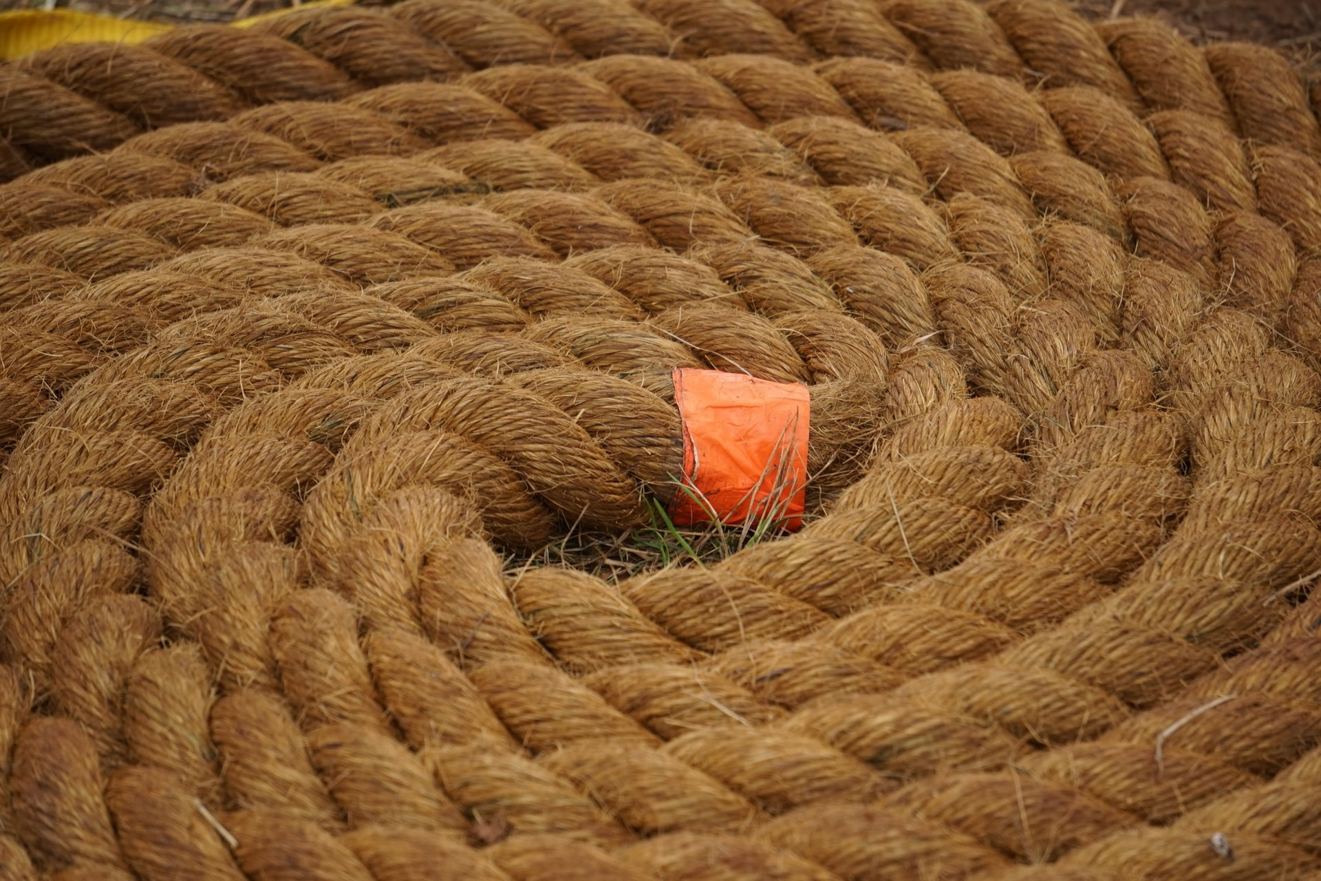 Coiled rope at the Bluemont Fair 2020