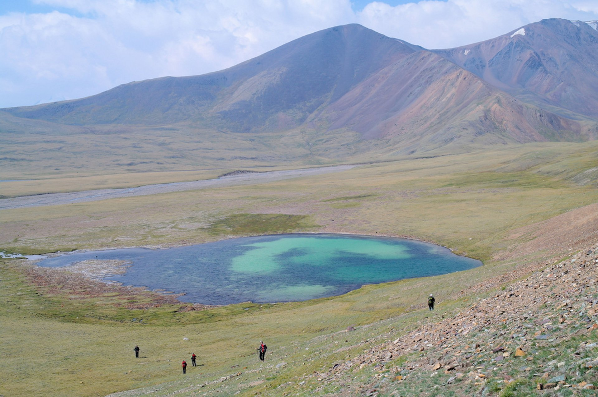 Trek out from roadhead to base camp, Tavan Bogd national park