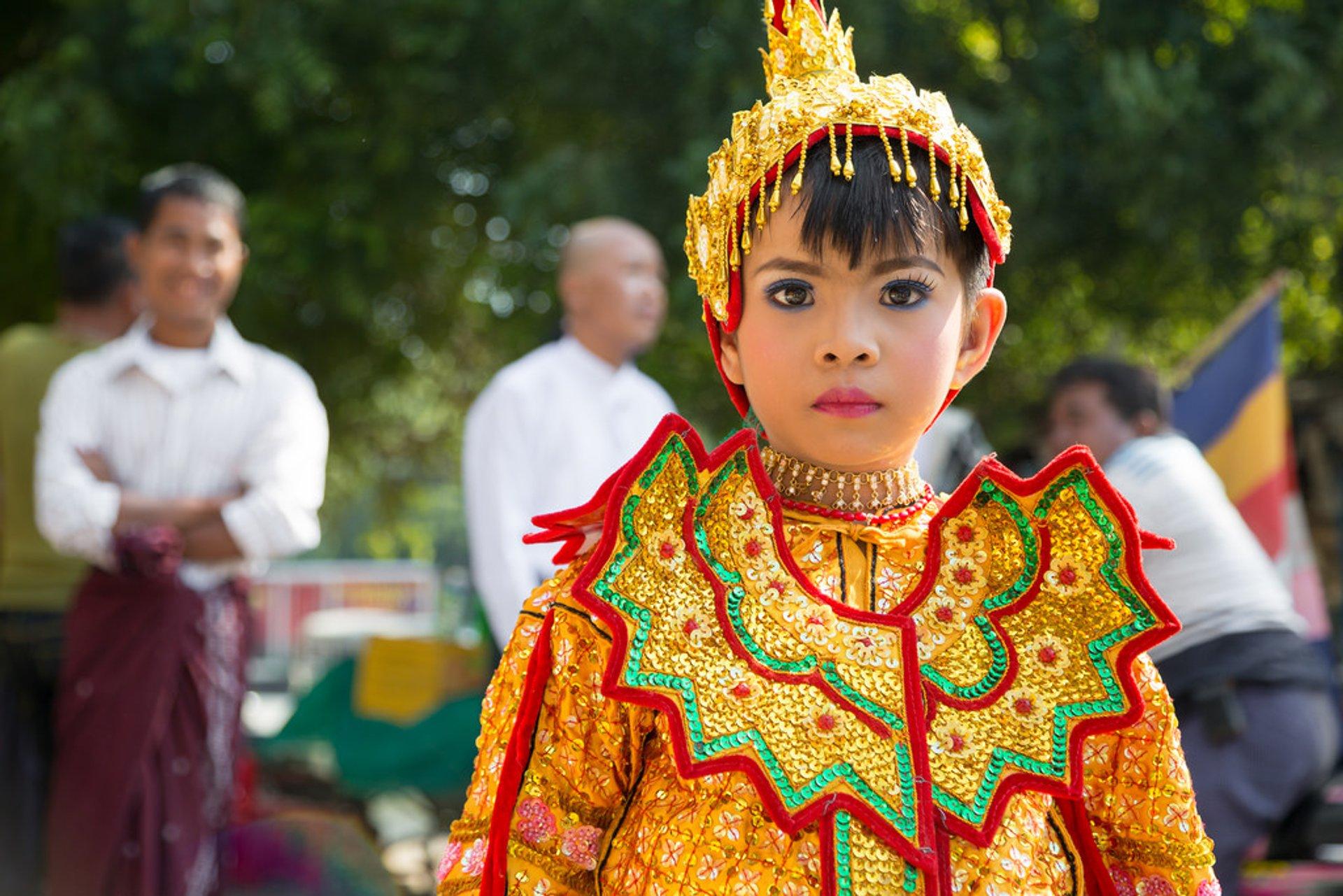 Novitiation Ceremony or Shinbyu in Myanmar - Best Season 2020