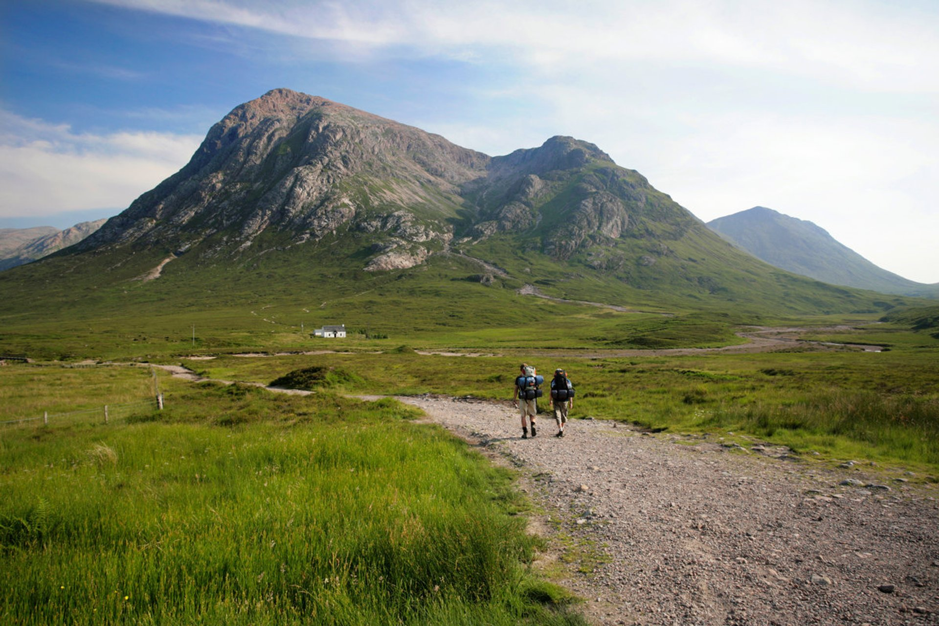 Way to mountain of Buachaille Etive Mor  2020