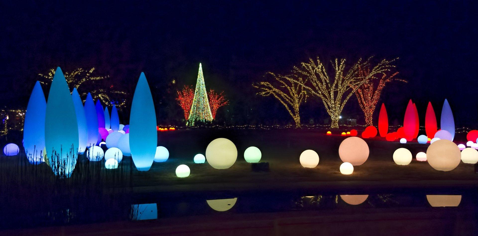 Christmas at Atlanta Botanical Gardens 2020