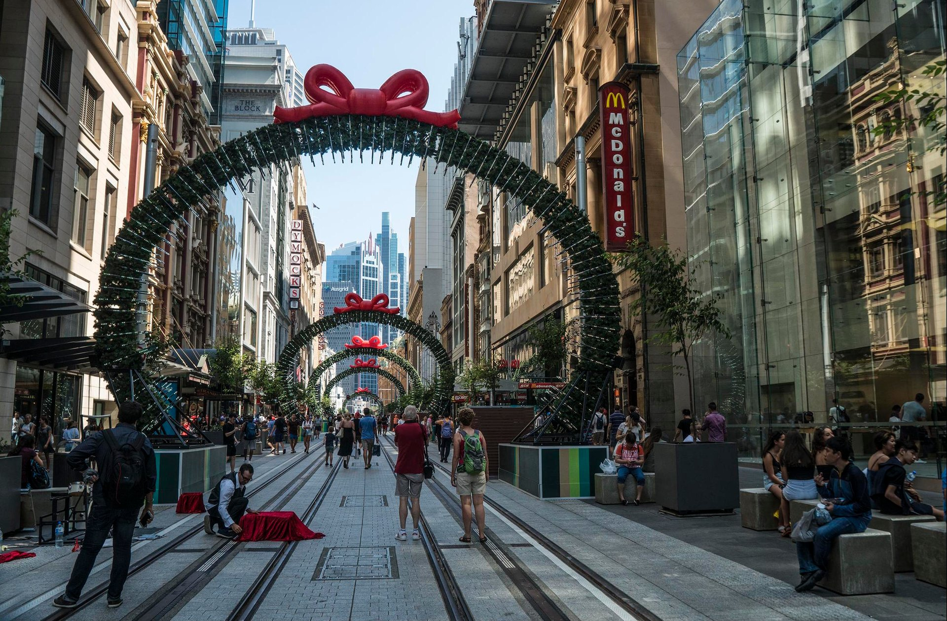 Sydney George Street Christmas Time 2020