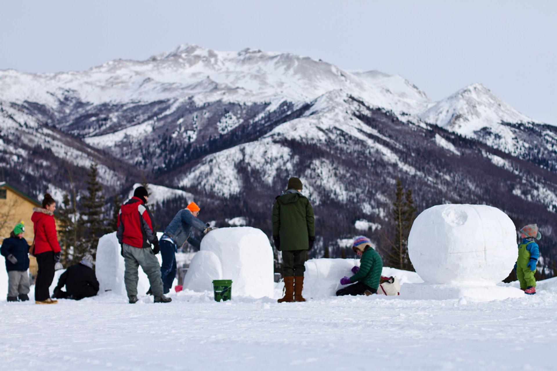 Snowsculpture. Denali Winterfest, 2012 2020