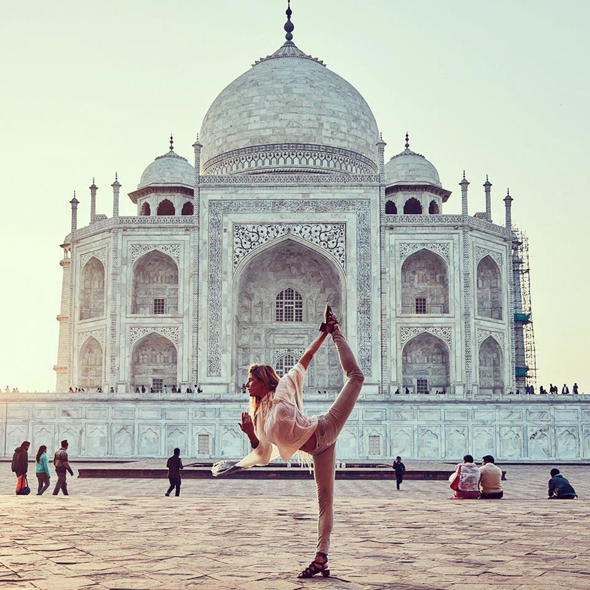 Yoga Classes Facing Taj Mahal in Taj Mahal and Agra  2020 - Best Time