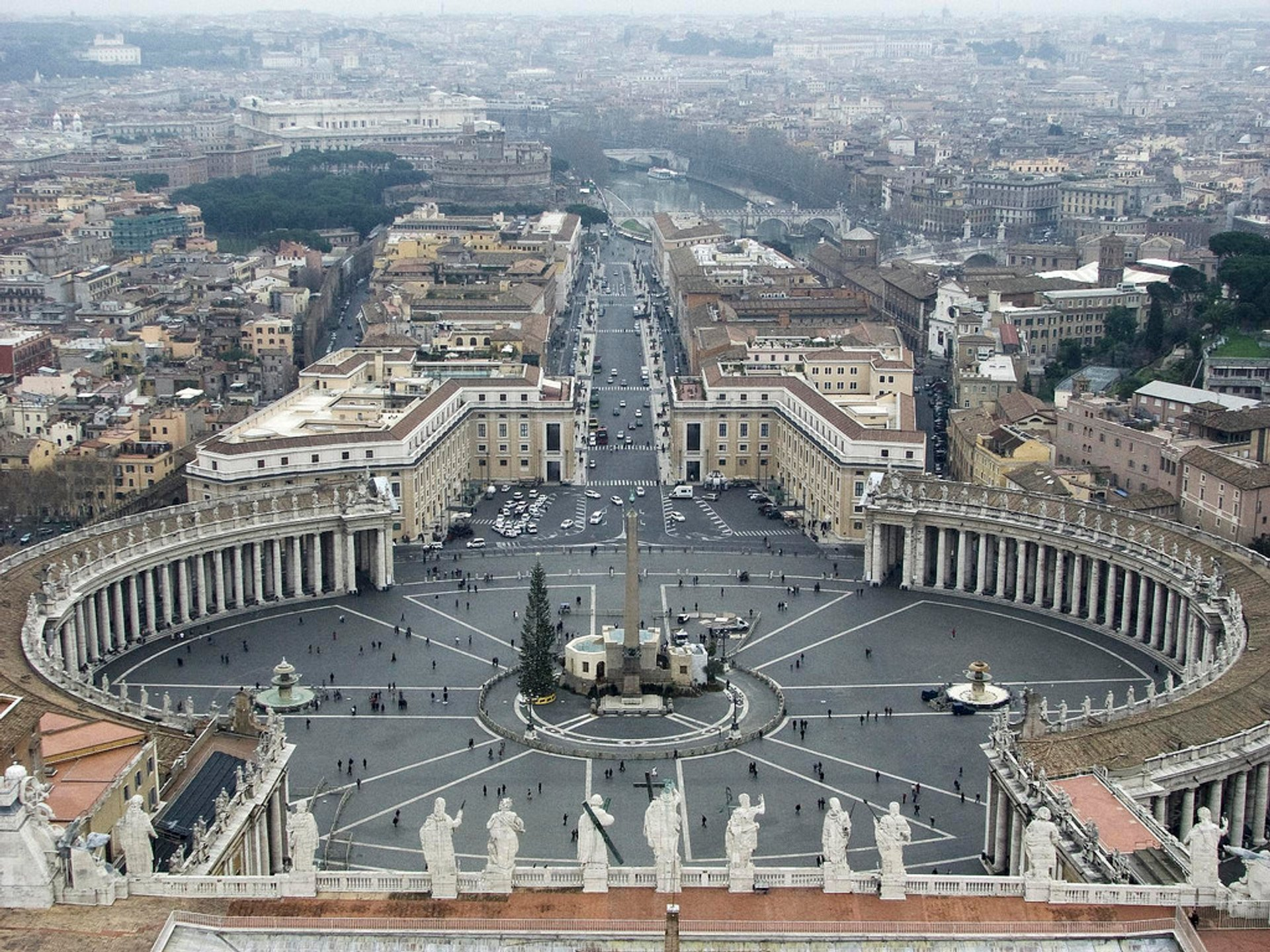 View over St Peter's Square 2020