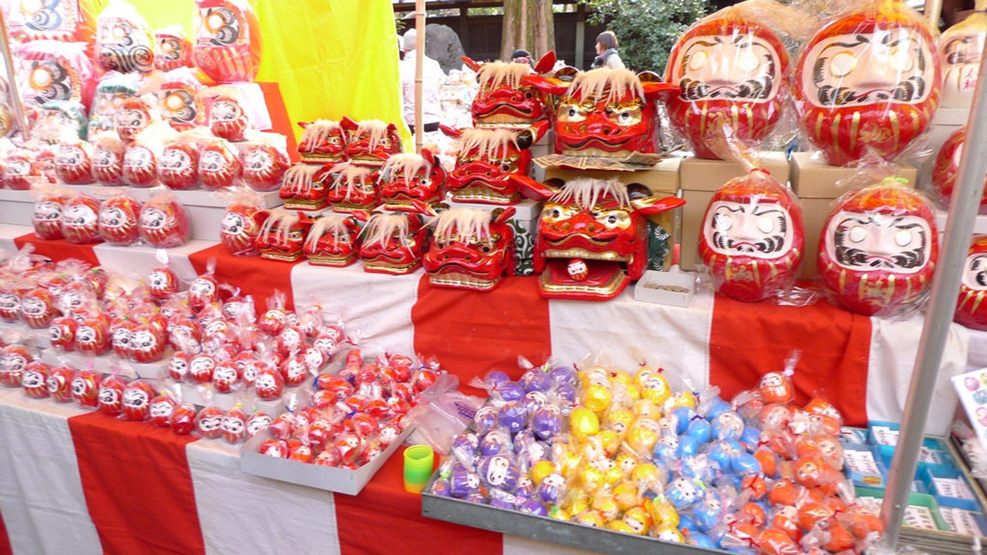 Best time for Jindaiji Daruma Ichi Fair in Tokyo 2020