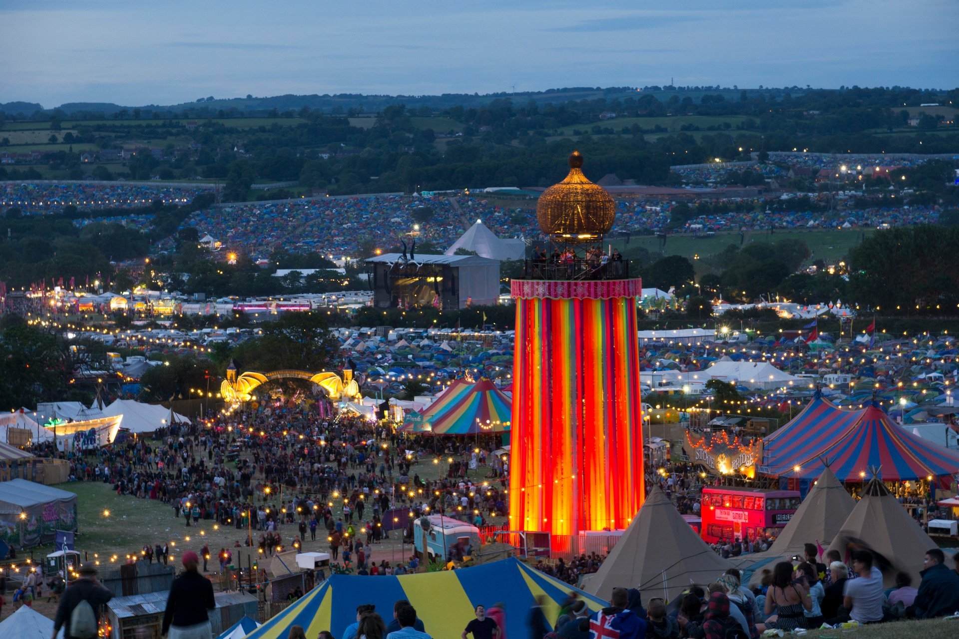 Best time for Glastonbury Festival in England 2020