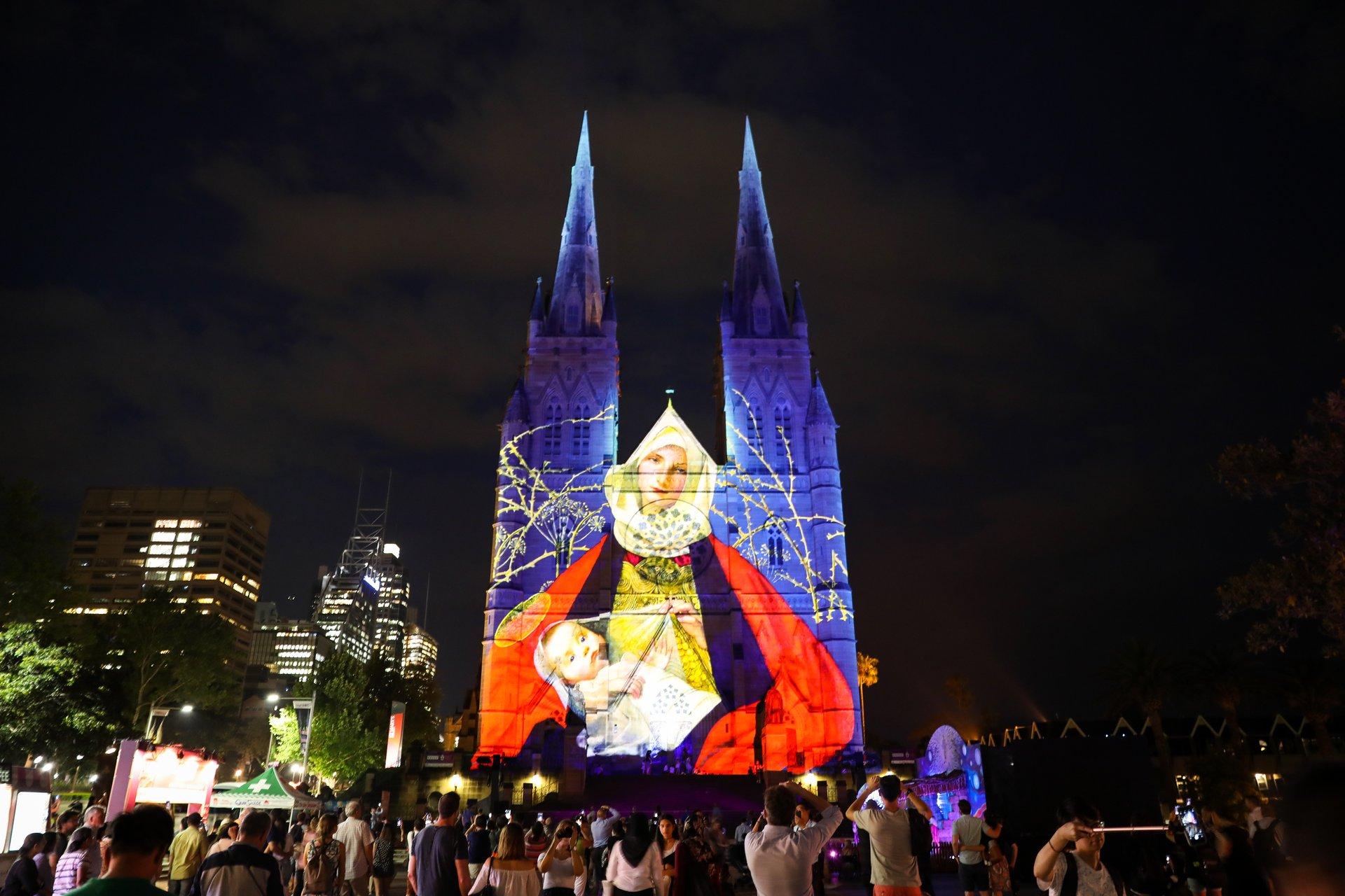 St Mary's Christmas projections 2020