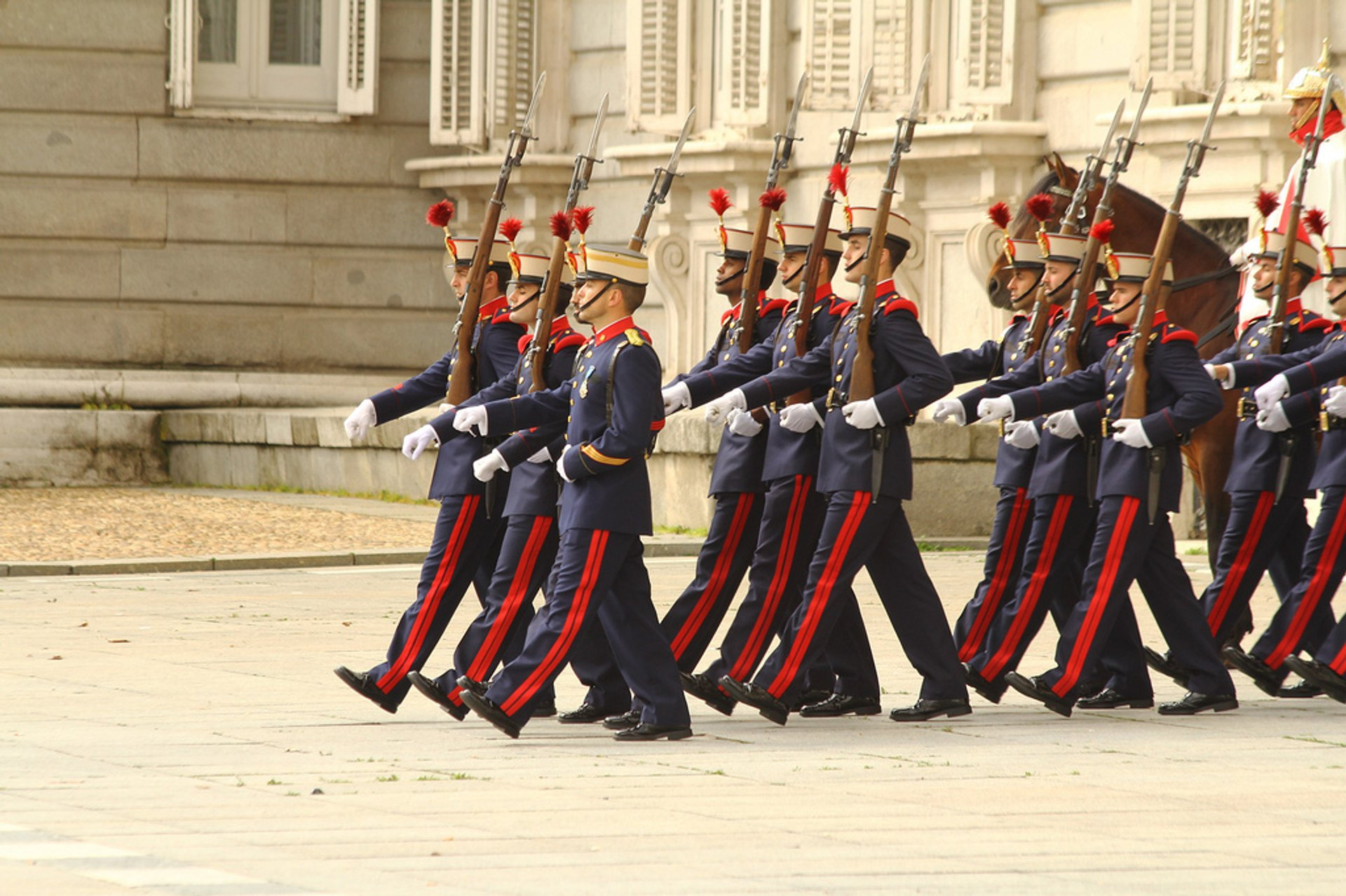 Solemn Changing of the Guard at the Royal Palace in Madrid - Best Season 2020