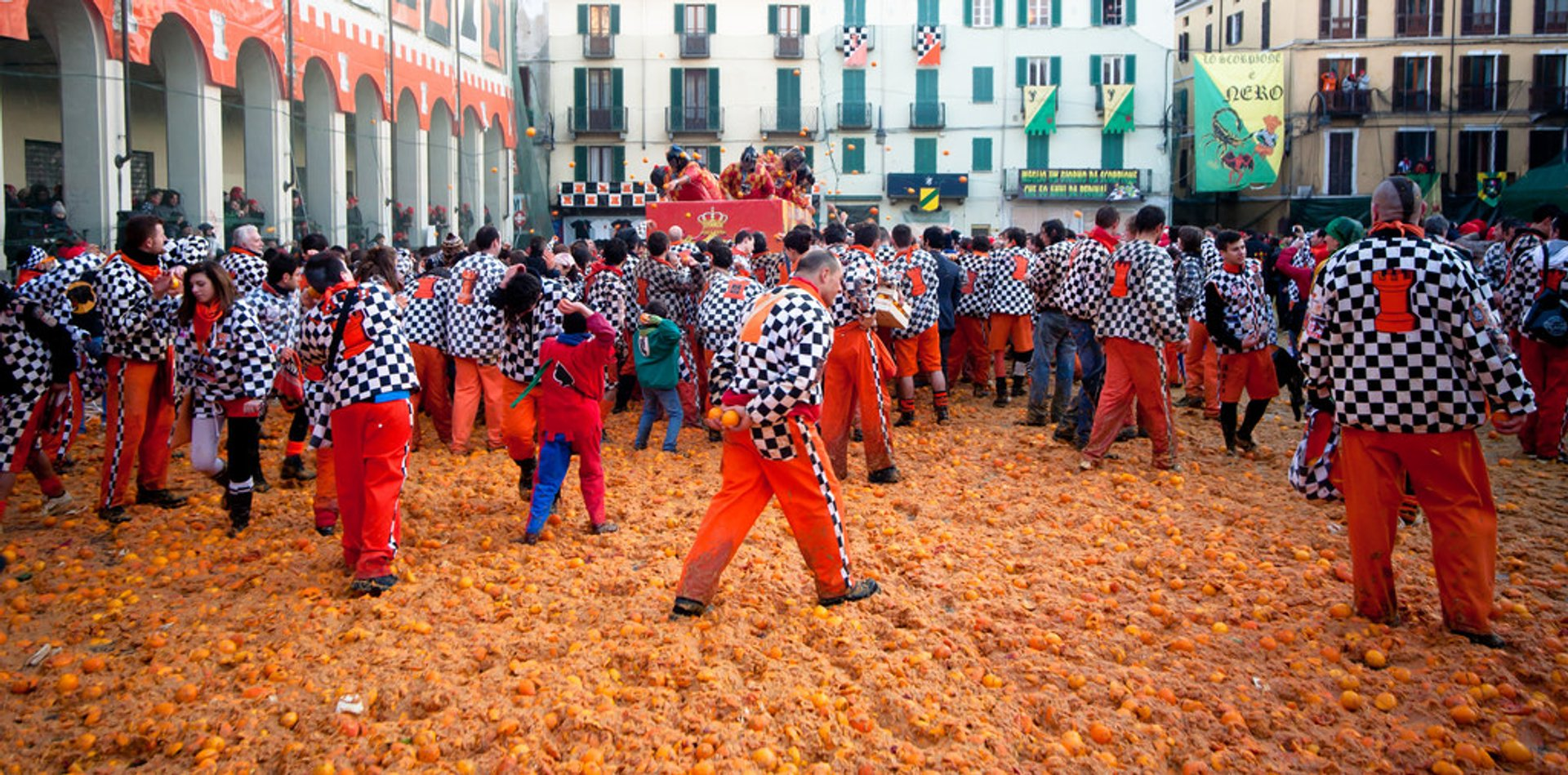 Best time for Ivrea Battle of the Oranges in Italy 2019