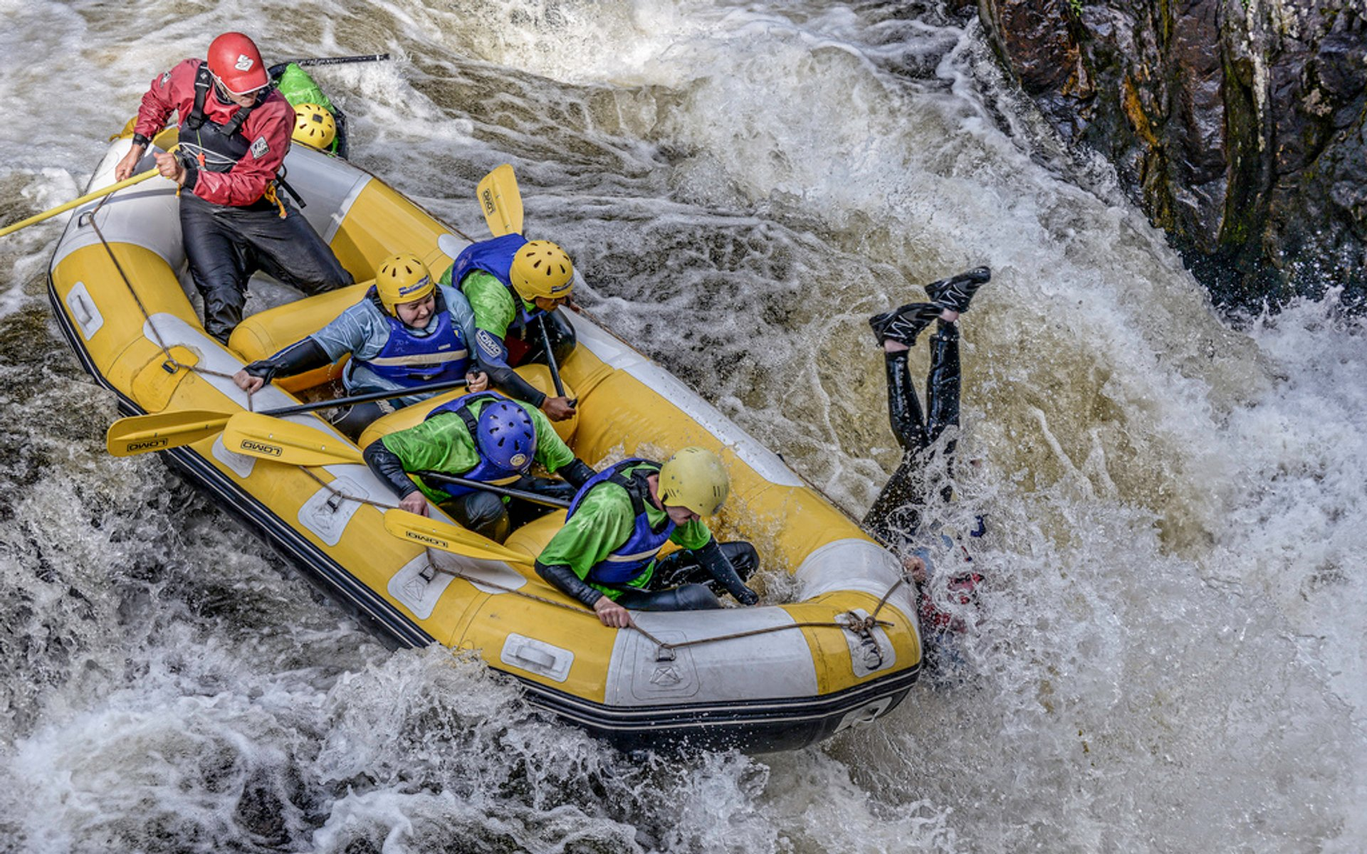 White water rafting on the RIver Tummel near Aberfeldy 2020