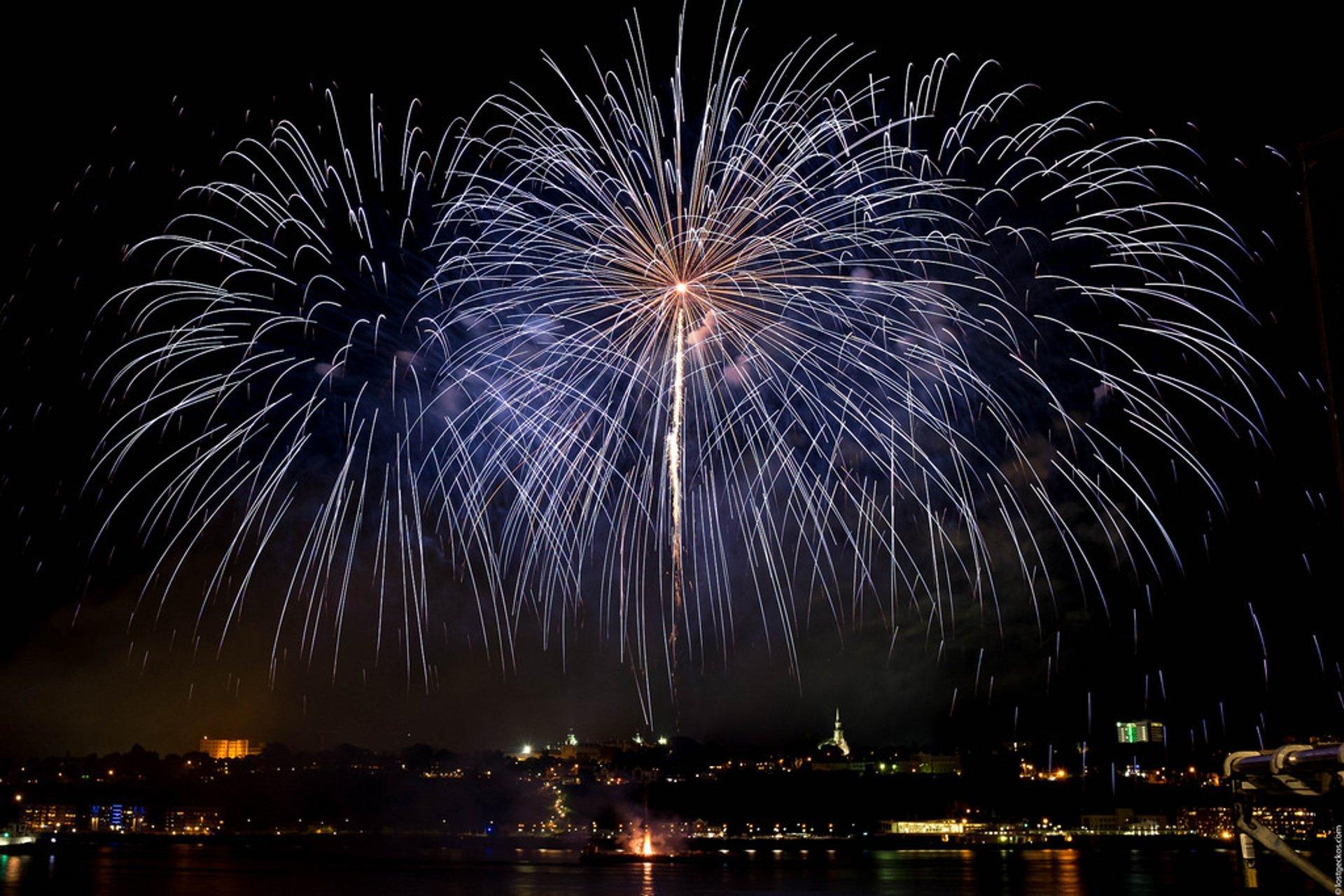 Best time for Les Grands Feux Loto-Québec (Fireworks Festival) 2020