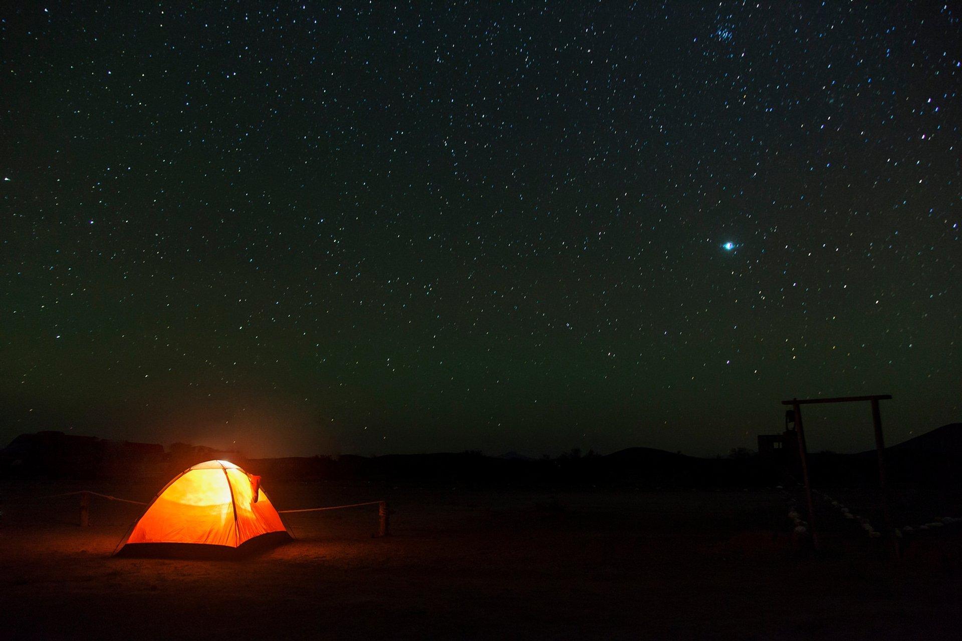 "This picture was taken while camping on ""La zona del silencio"" 2020"