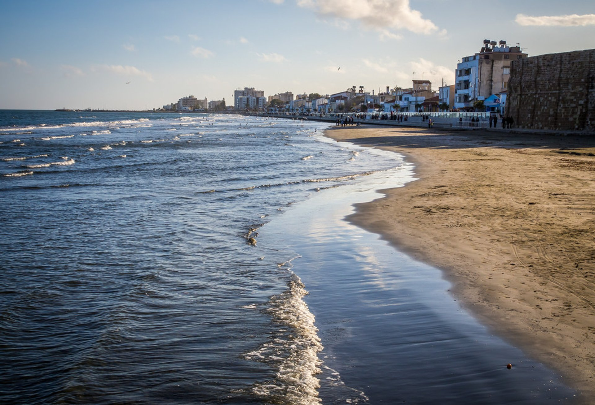 Sea in Larnaca in January 2020