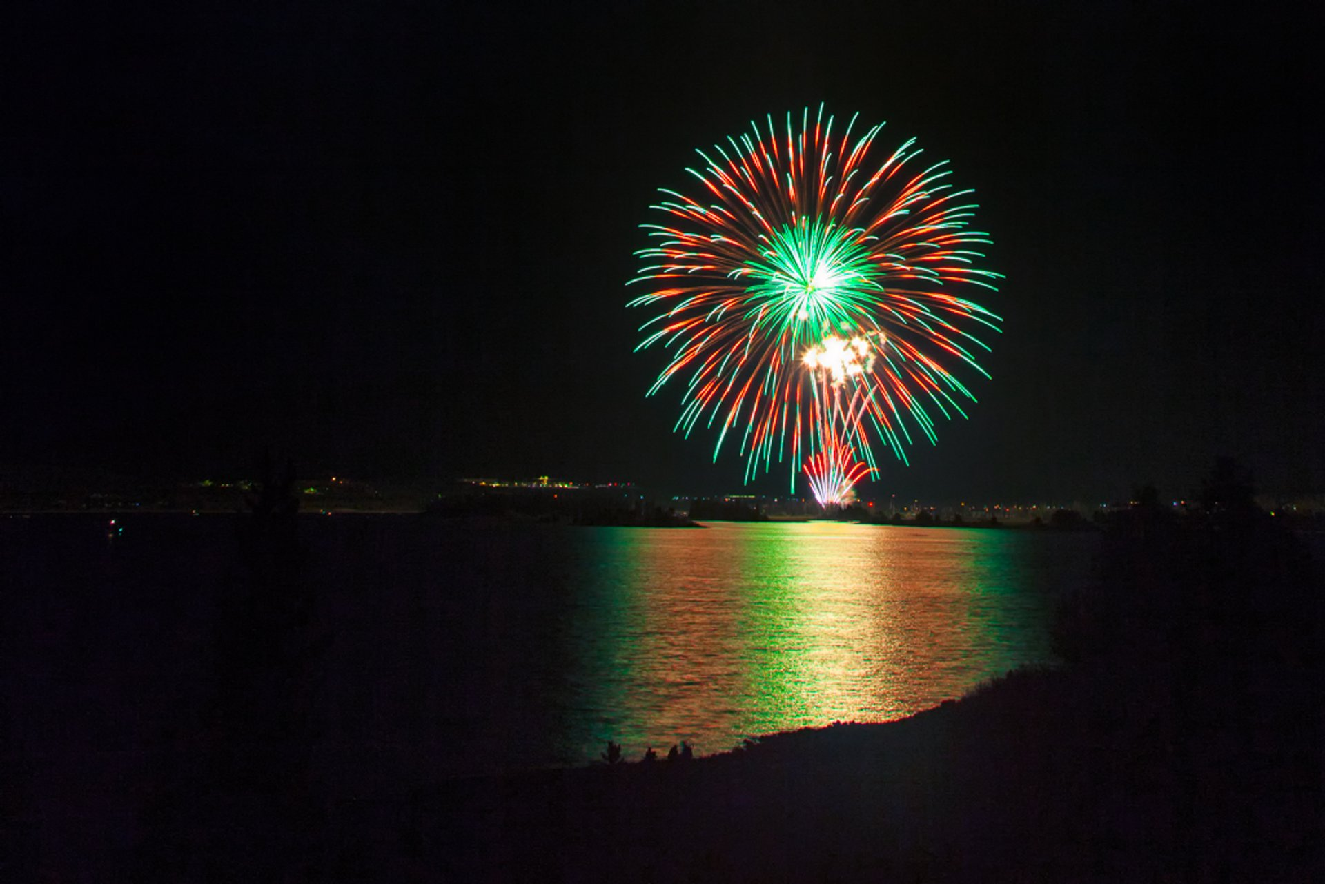4th of July Fireworks over Lake Dillon, Frisco 2020